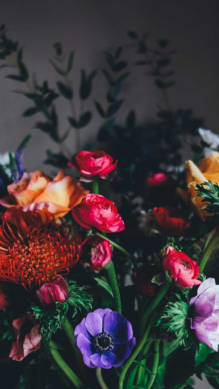 Dark Floral Iphone Wallpapers Top Free Dark Floral Iphone