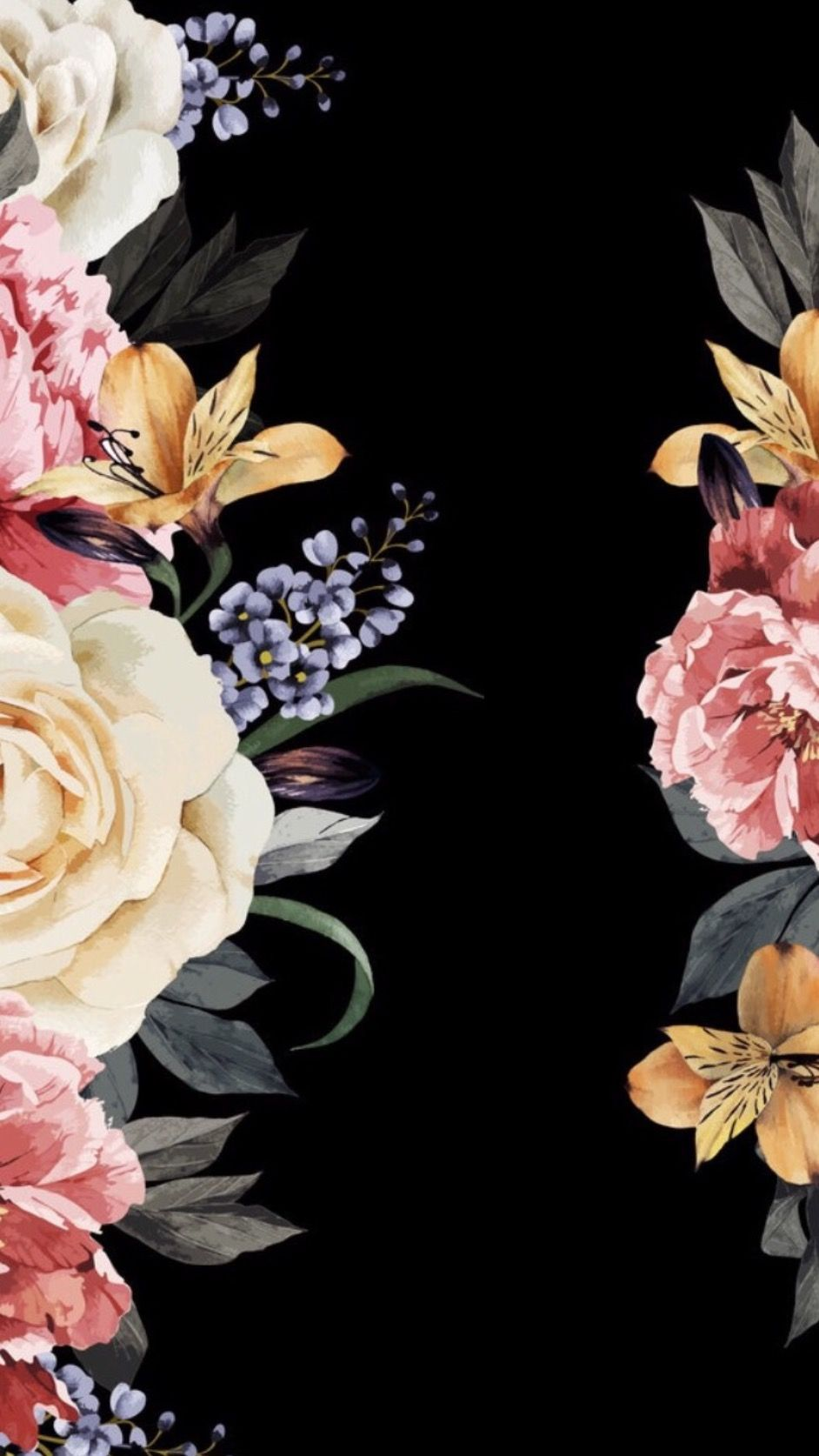 Real Dark Floral Iphone Wallpapers Top Free Real Dark Floral