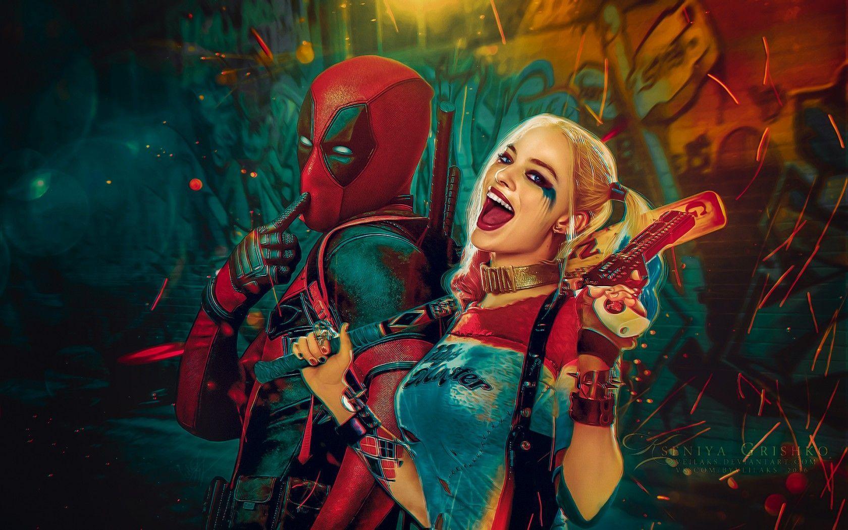 Deadpool And Harley Quinn 4k Wallpapers Top Free Deadpool