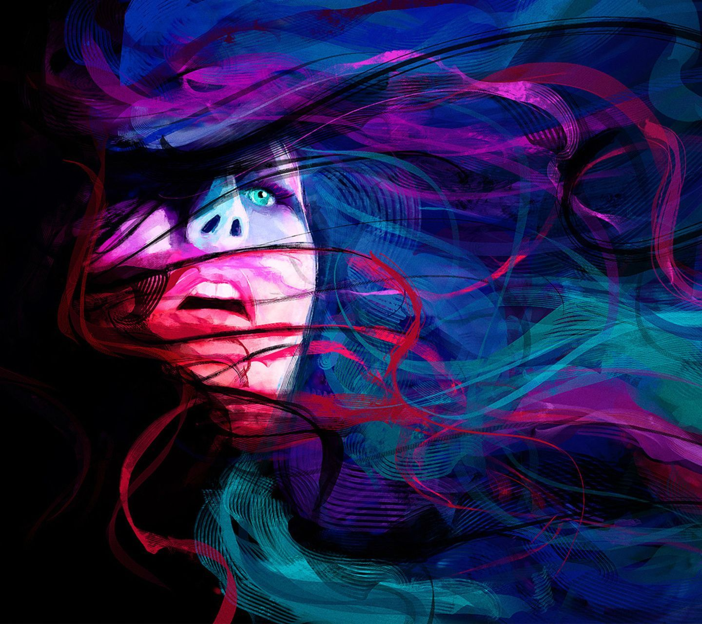 Image result for trippy woman painting