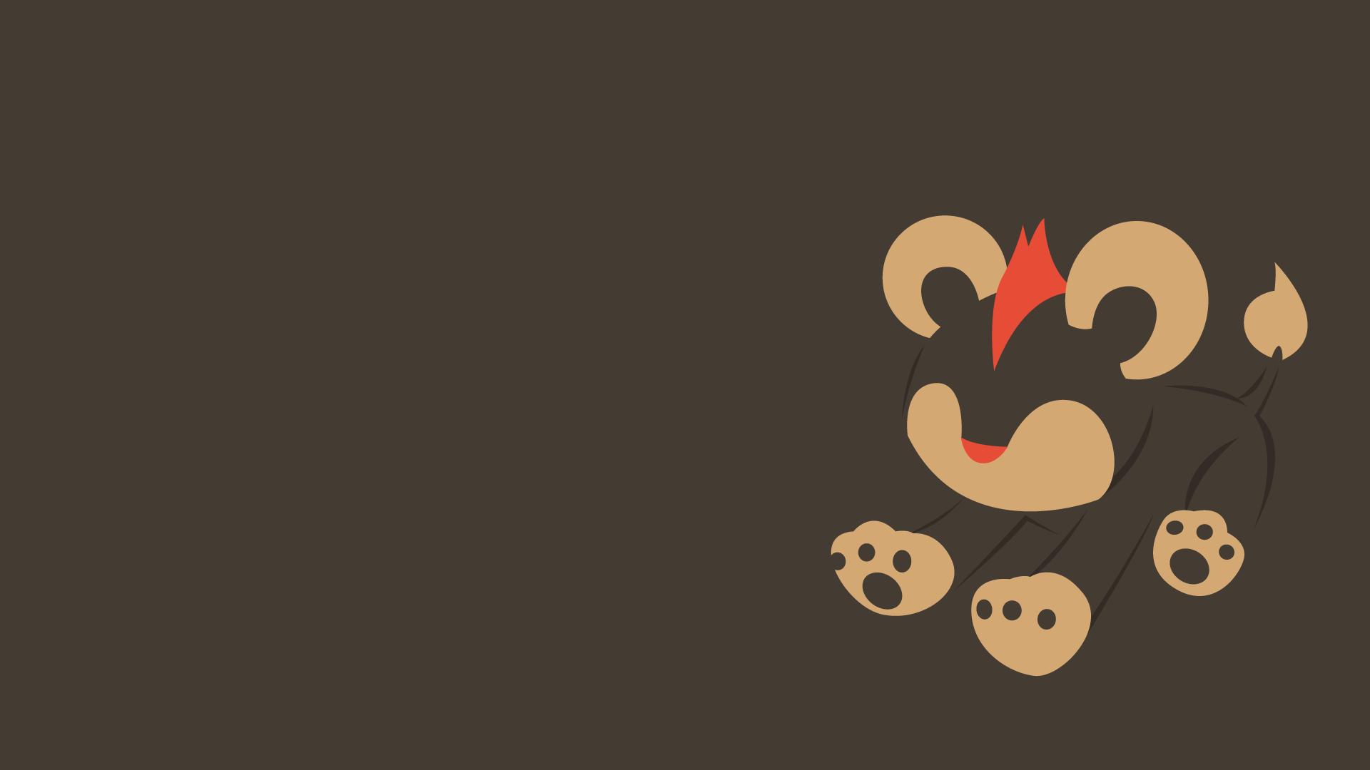 1920x1080 Thiết kế phẳng: Hình nền & Áp phích Pokemon tối thiểu HD