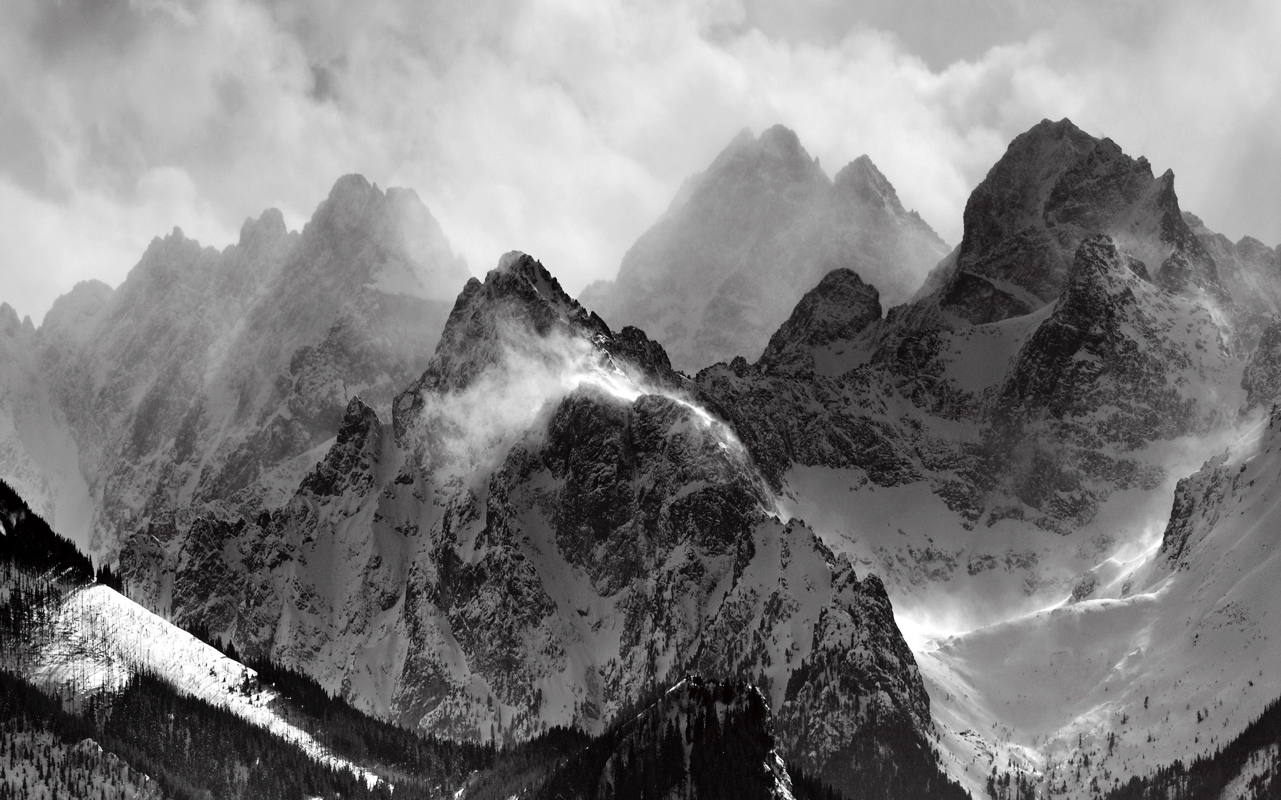 Black And White Mountain Wallpapers Top Free Black And White