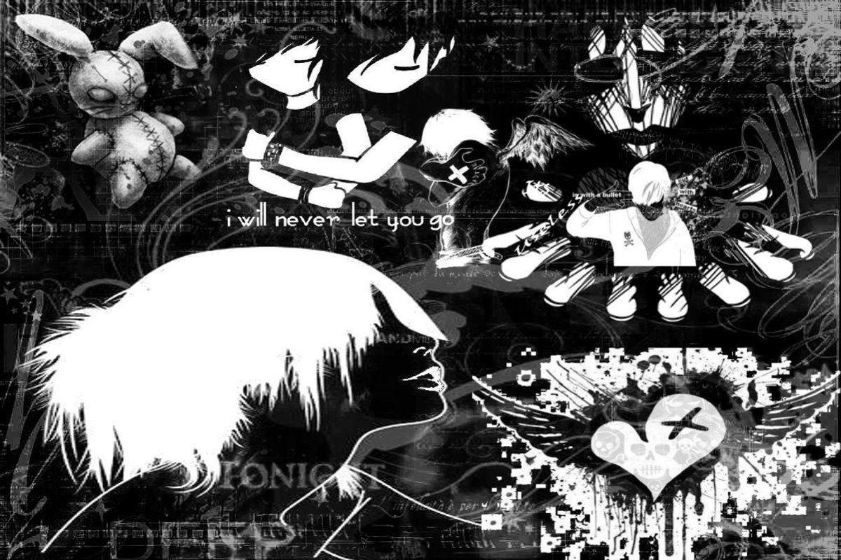 Anime Girl Emo Wallpapers Top Free Anime Girl Emo Backgrounds