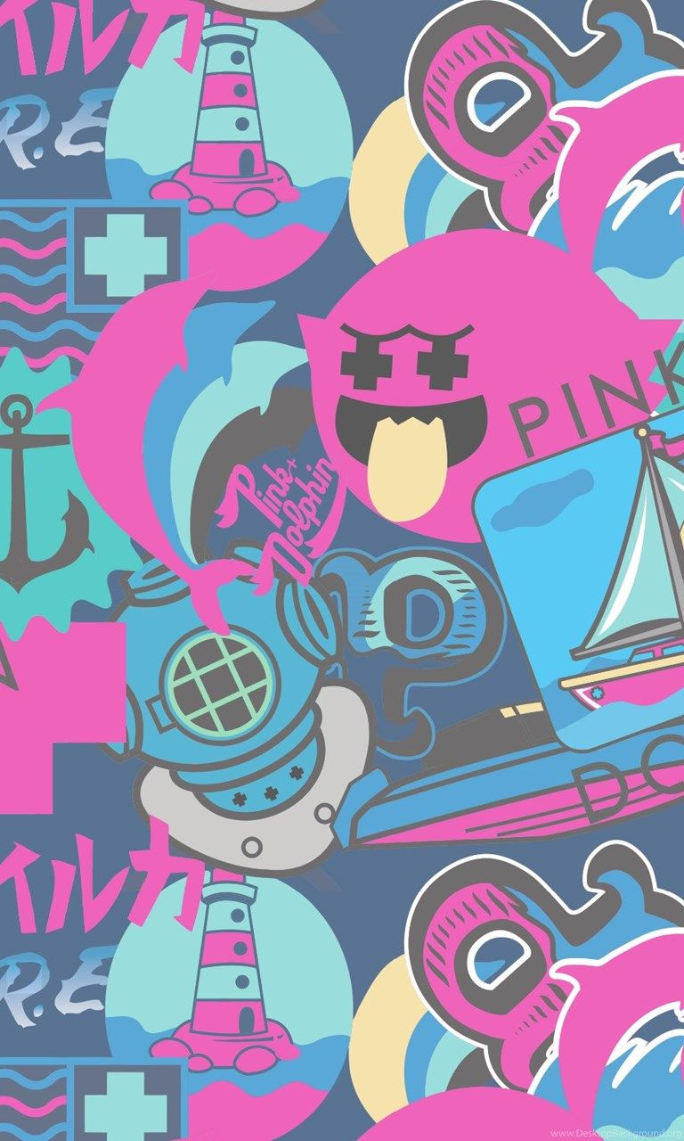 Pink Dolphin Ghost Logo Wallpapers Top Free Pink Dolphin Ghost