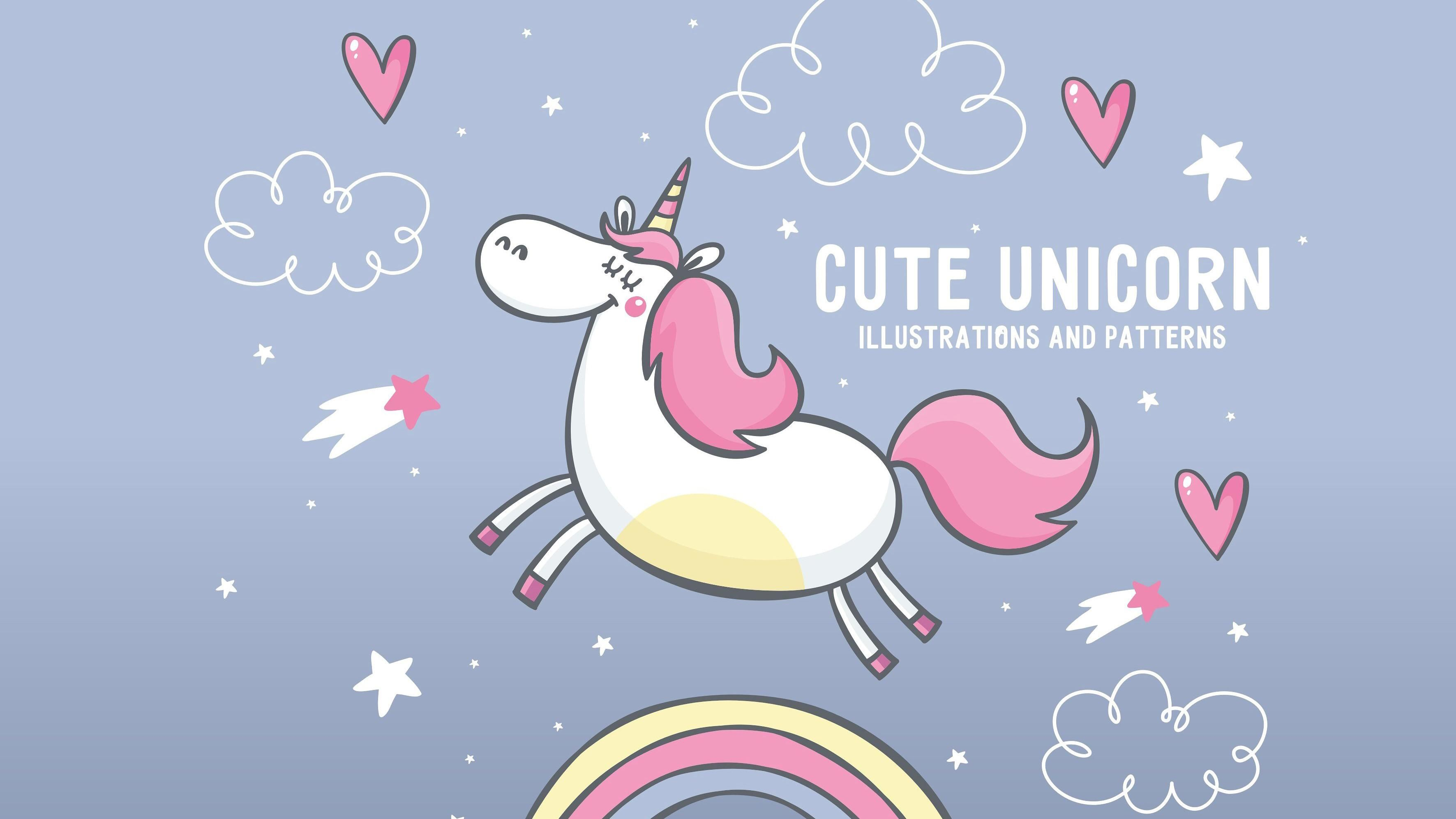 Cute Unicorn Desktop Wallpapers Top Free Cute Unicorn Desktop Backgrounds Wallpaperaccess