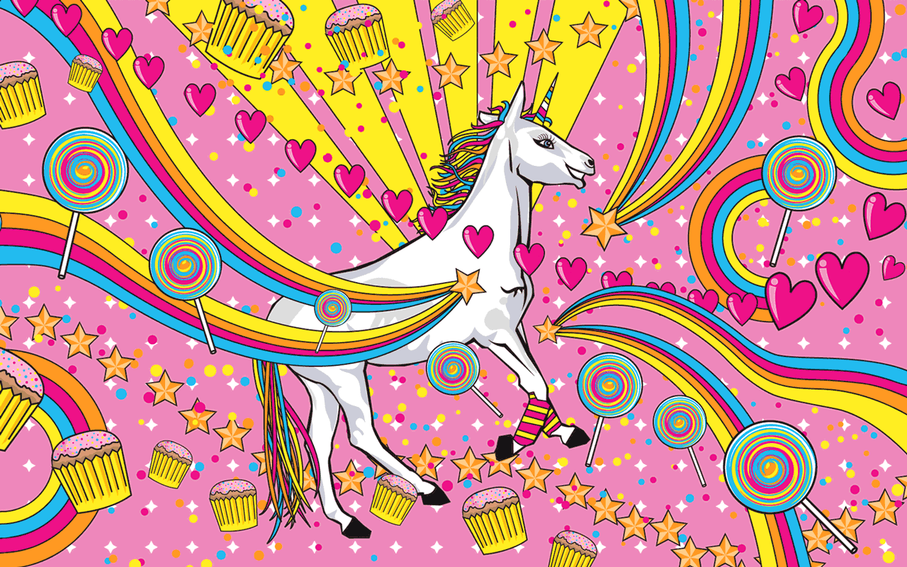 Preview Wallpaper Unicorn Wings Horse Fantasy Source Cute Rainbow