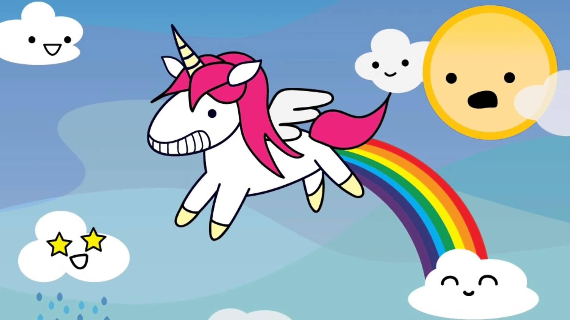 Cute Rainbow Unicorn Desktop Wallpapers Top Free Cute Rainbow Unicorn Desktop Backgrounds Wallpaperaccess