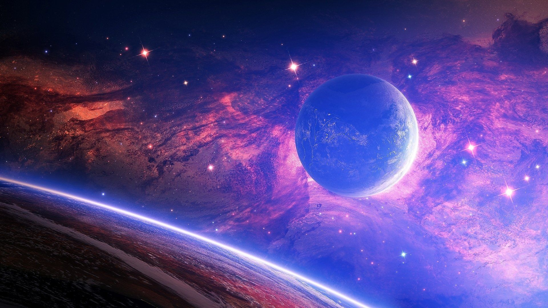 Galaxy Planet Wallpapers Top Free Galaxy Planet Backgrounds Wallpaperaccess