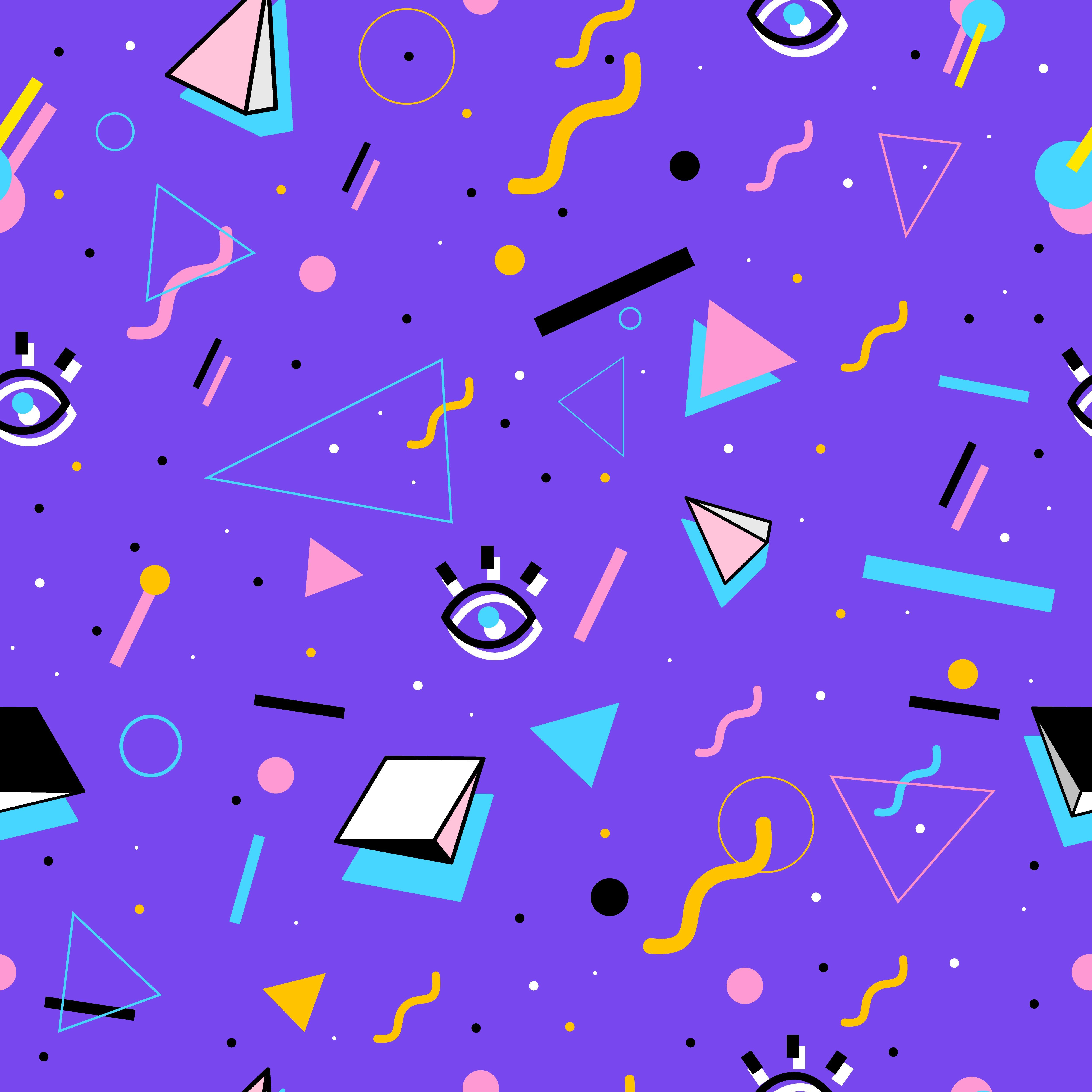 80s Shapes Wallpapers Top Free 80s Shapes Backgrounds