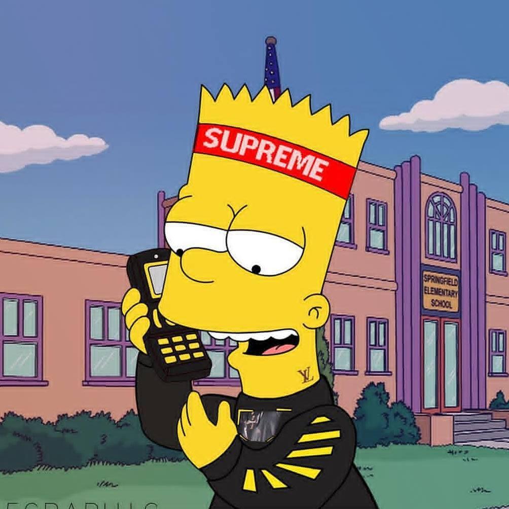 Supreme Simpson Cartoon Wallpapers - Top Free Supreme ...