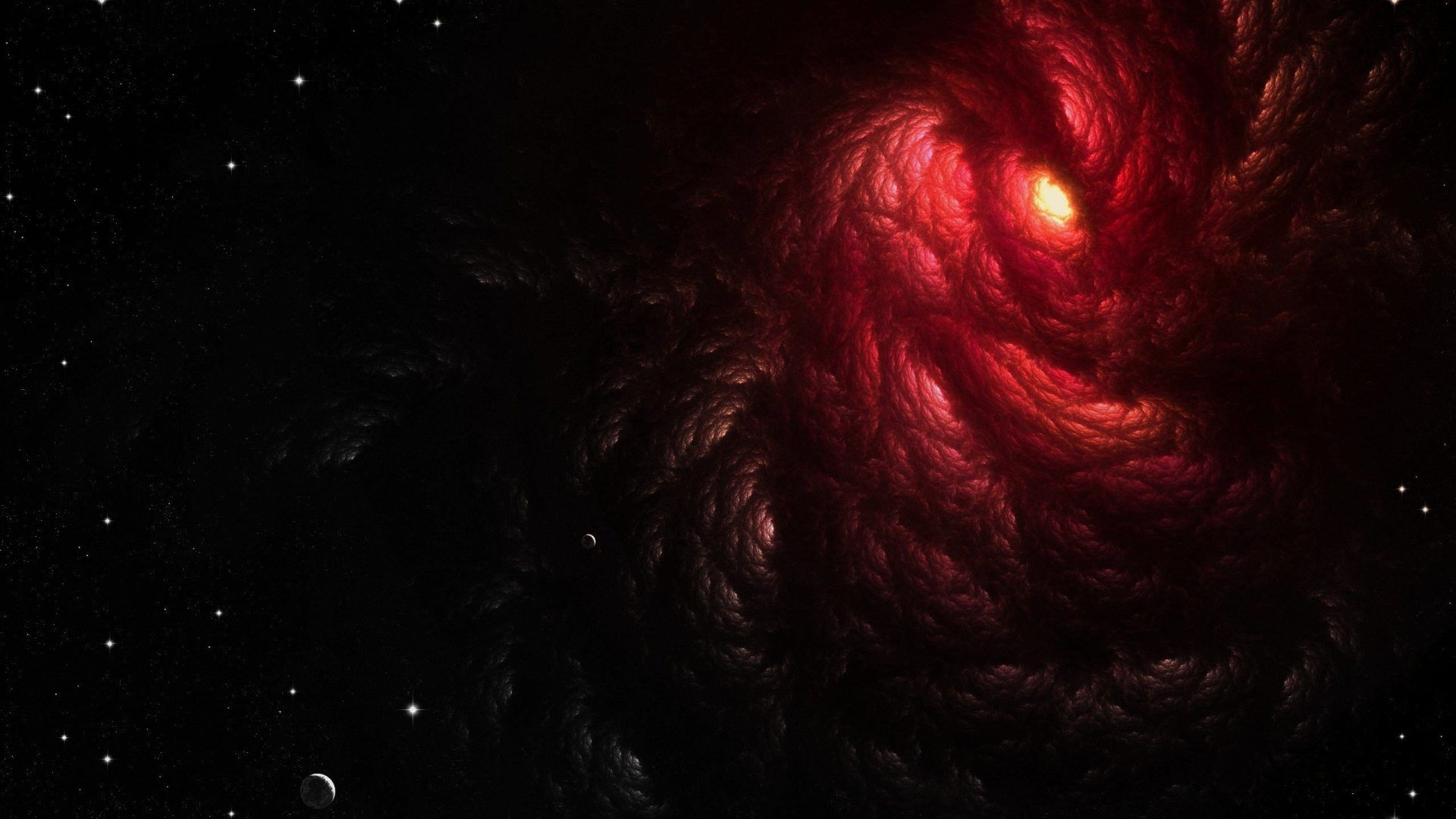 1920x1080 Wallpaper Outer Space Galaxy Planet Alone HD 907
