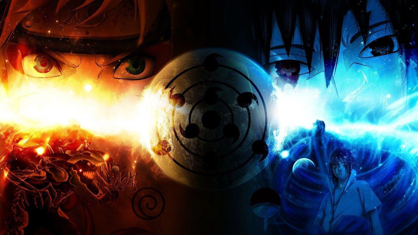 """1920x1080 So I decided to draw Naruto and Sasuke today. : Naruto"""">"""
