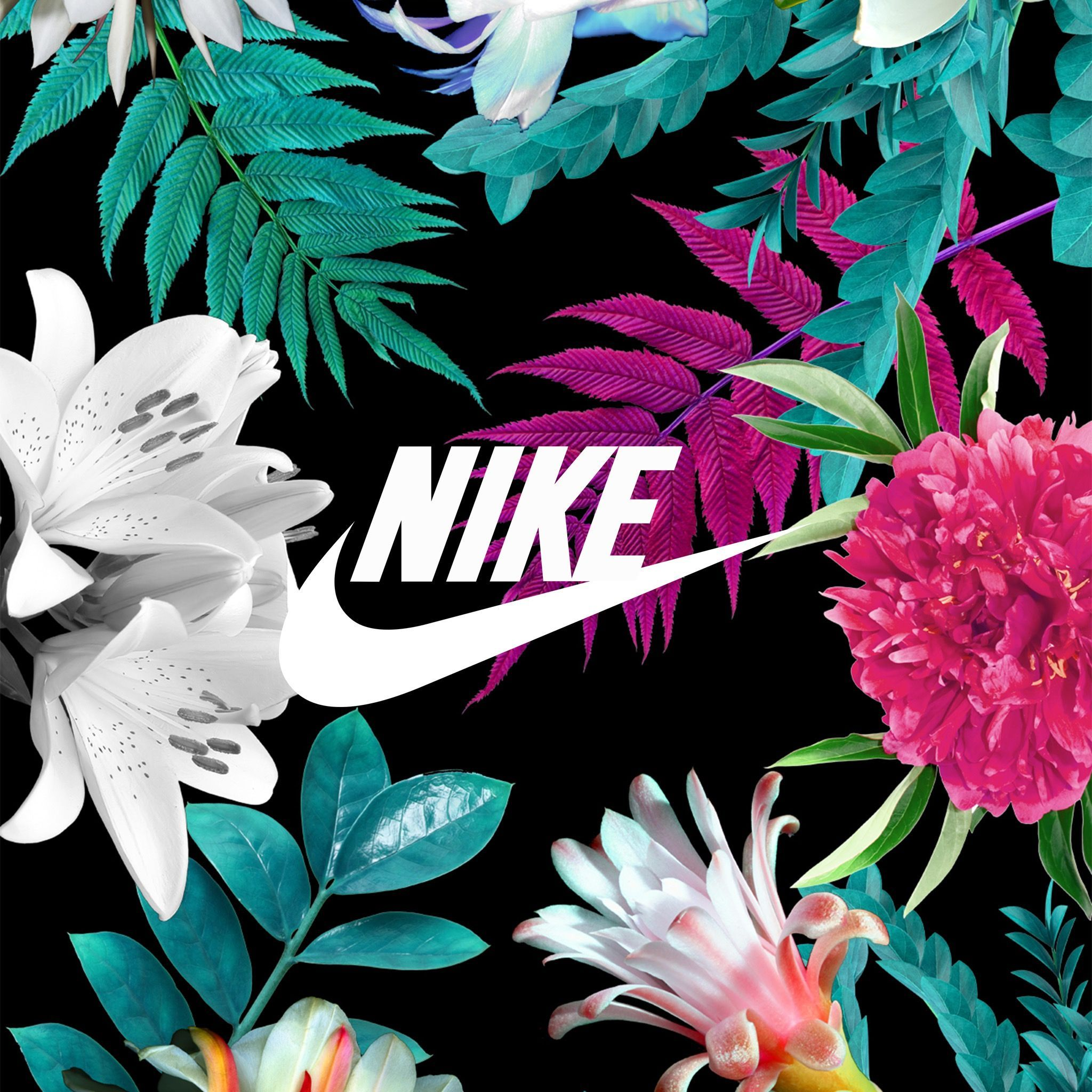 White nike floral wallpapers top free white nike floral - Fantasy nike wallpaper ...
