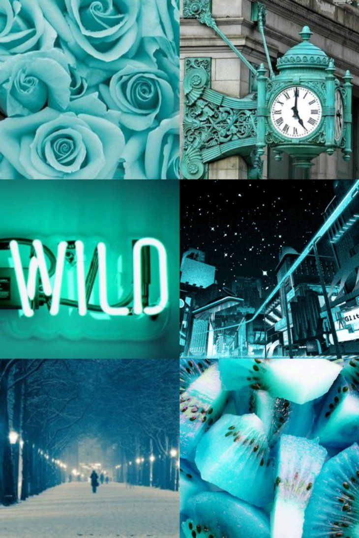 Blue Aesthetic Collage Wallpapers Top Free Blue Aesthetic