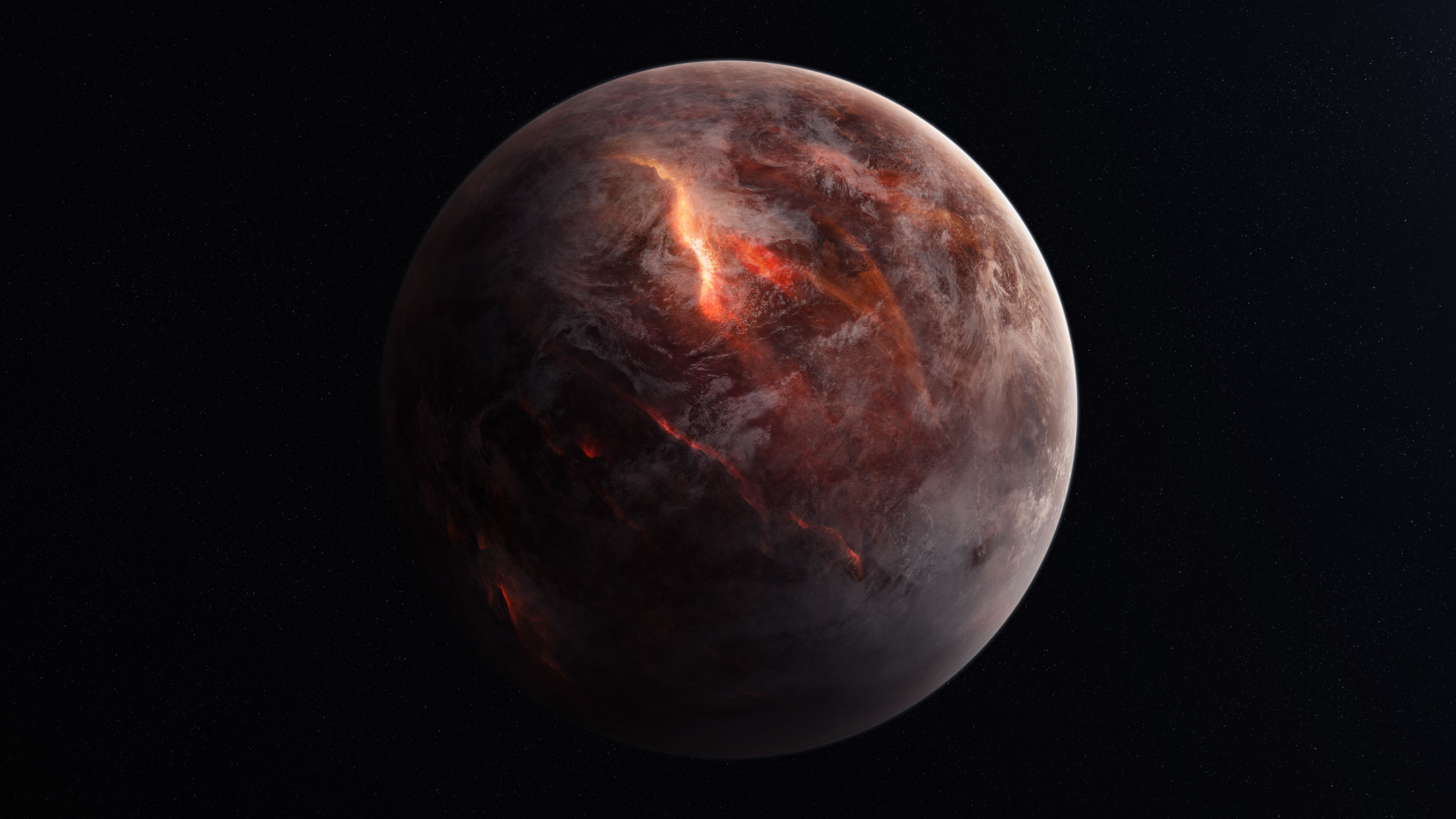 7680x4320 كوكب خلفية ، تدمير ، 4K ، 8K ، مسافة