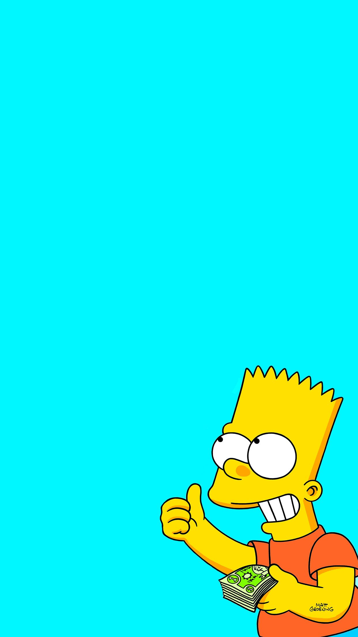 Aesthetic Bart Simpson Iphone Wallpapers Top Free Aesthetic Bart