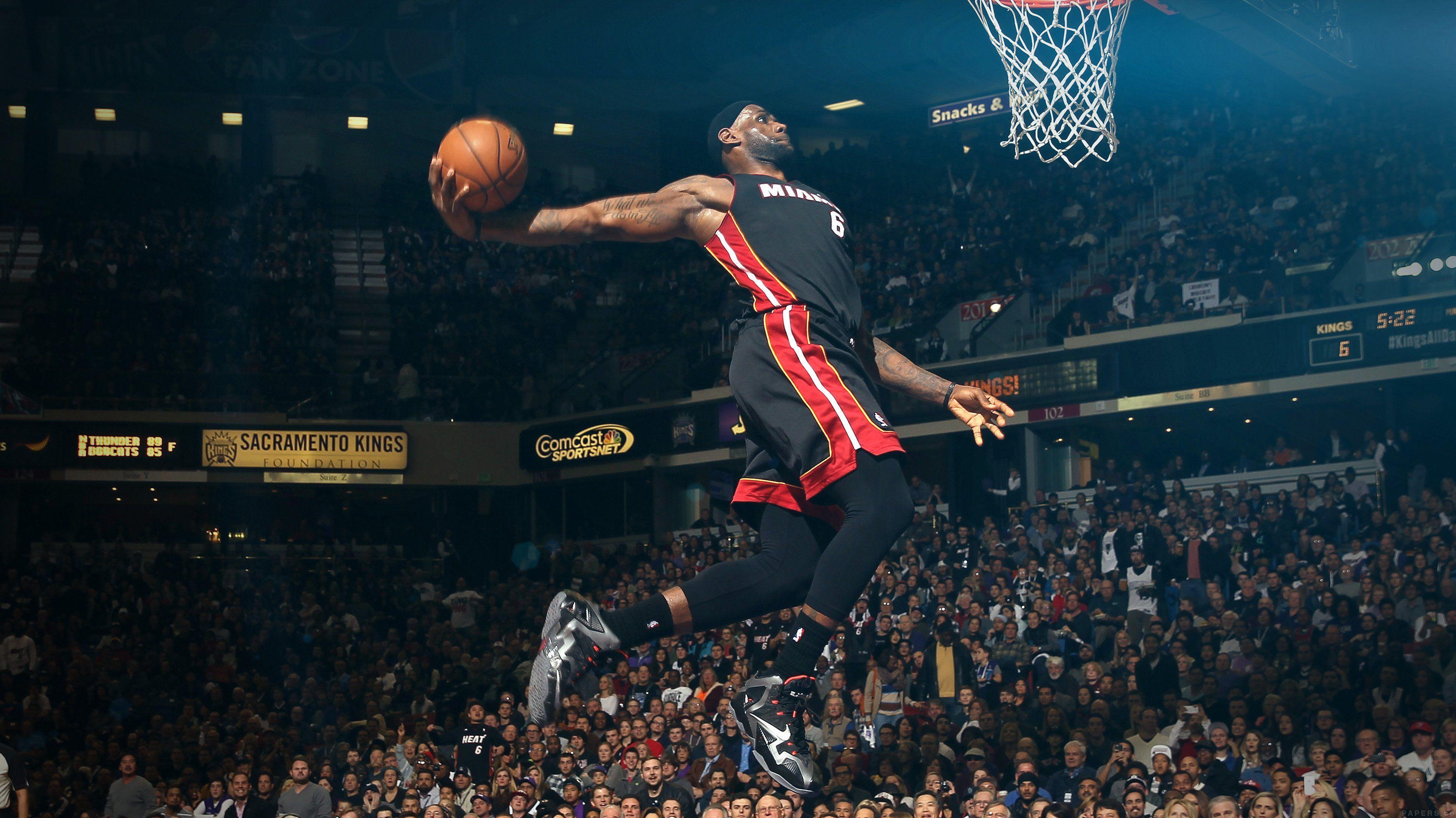Hi84 Lebron James Nba Basketball Dunk Wallpaper: Top Free 4K NBA Backgrounds
