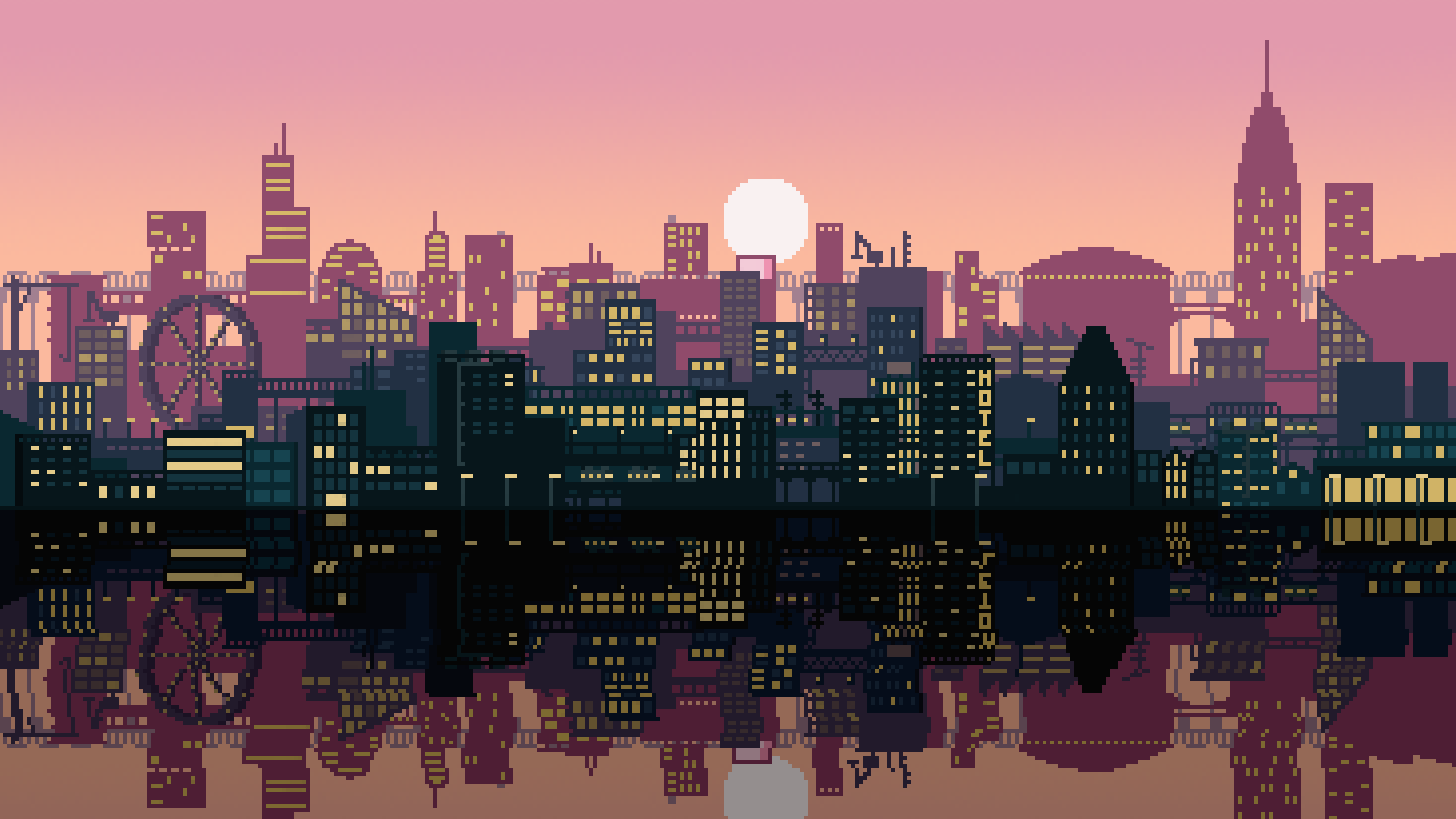 City Pixel Art Wallpapers Top Free City Pixel Art Backgrounds Wallpaperaccess