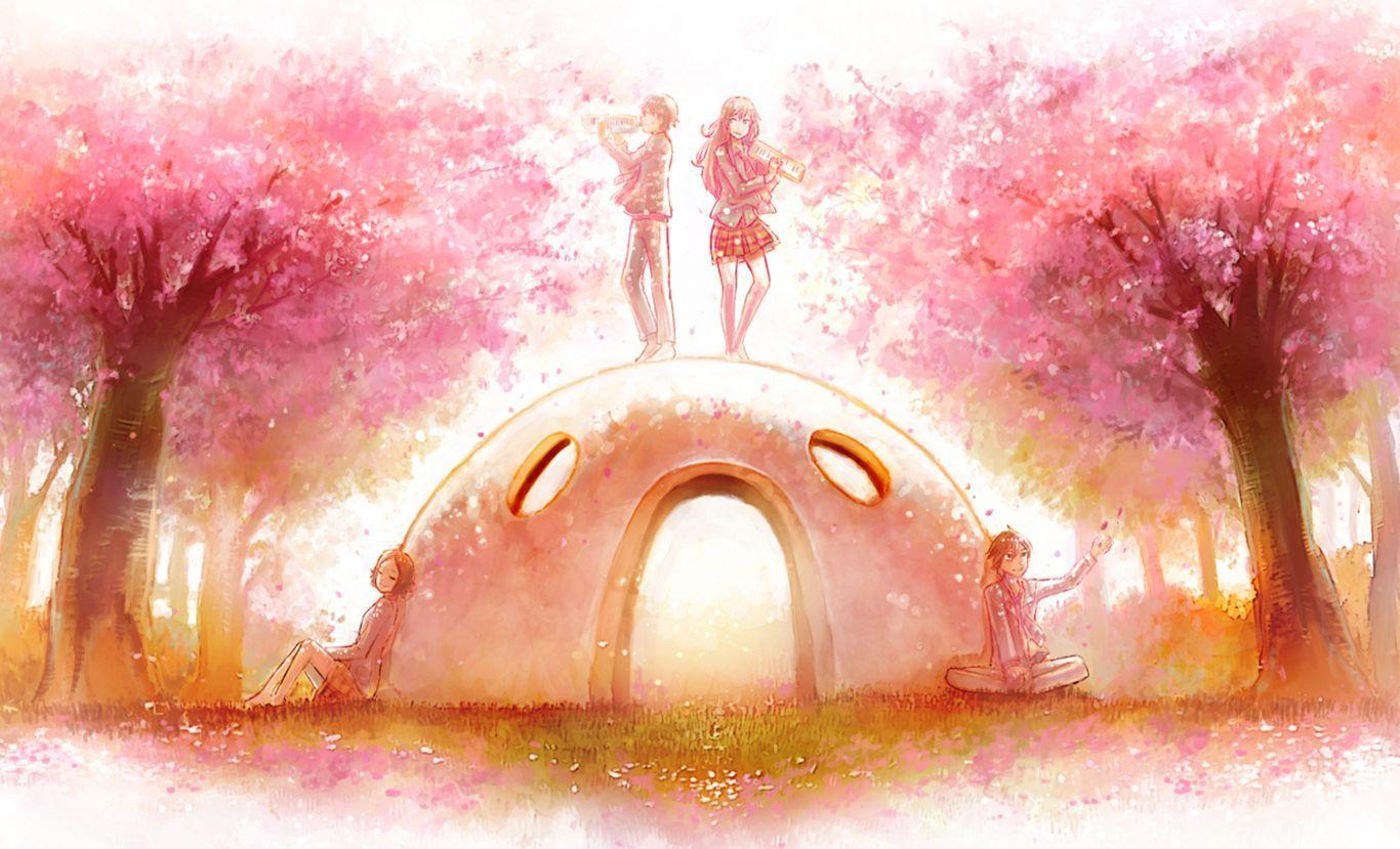 Your Lie In April Watercolor Wallpapers Top Free Your Lie In April Watercolor Backgrounds Wallpaperaccess