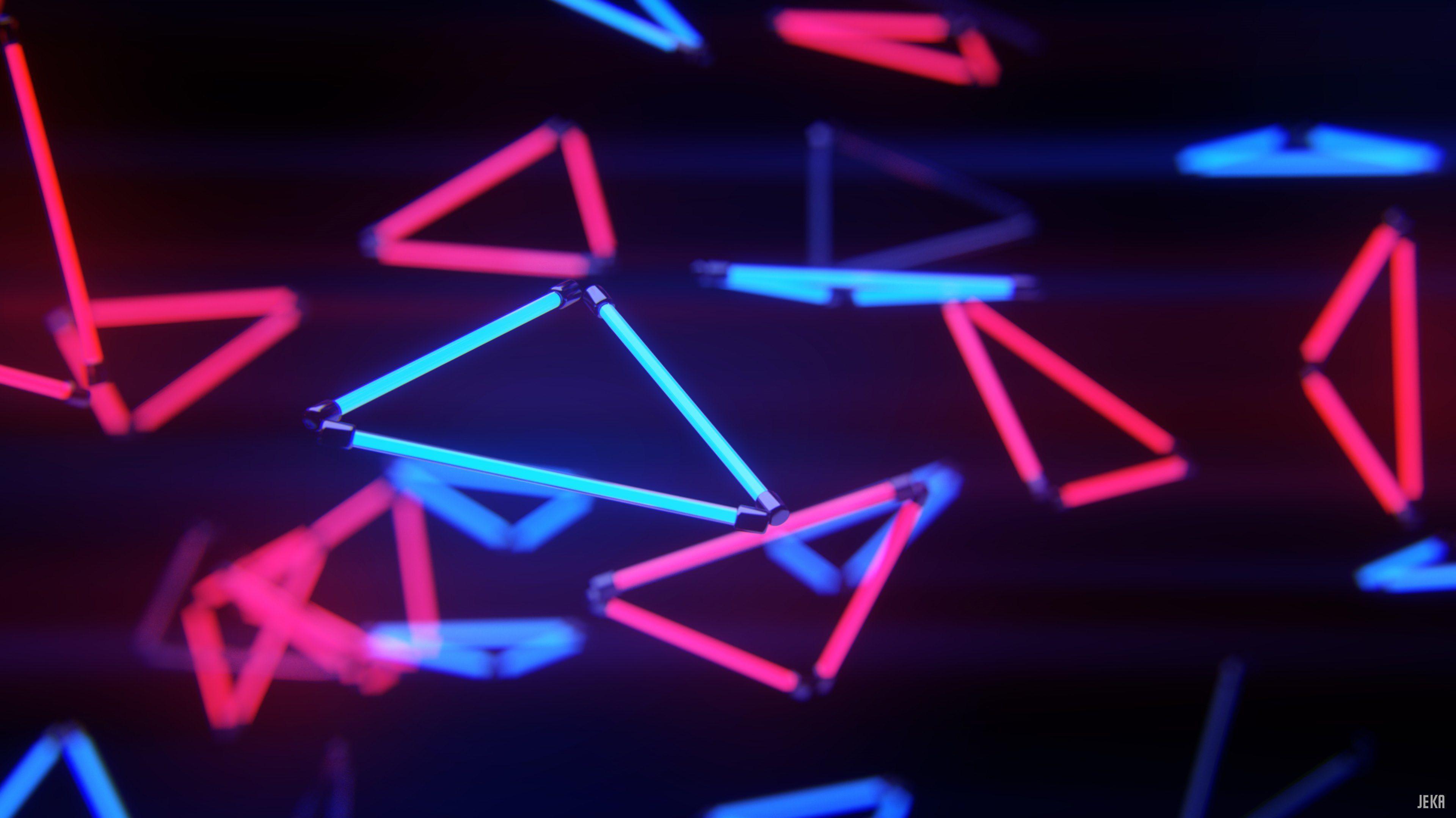 3840x2160 Giấy 4K - Hình nền Neon Stream