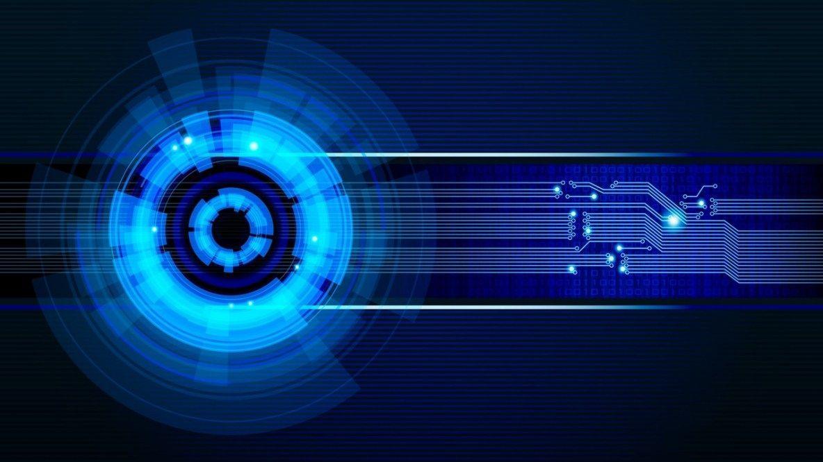 1184x666 Neon Light Circles Hình nền HD 4k