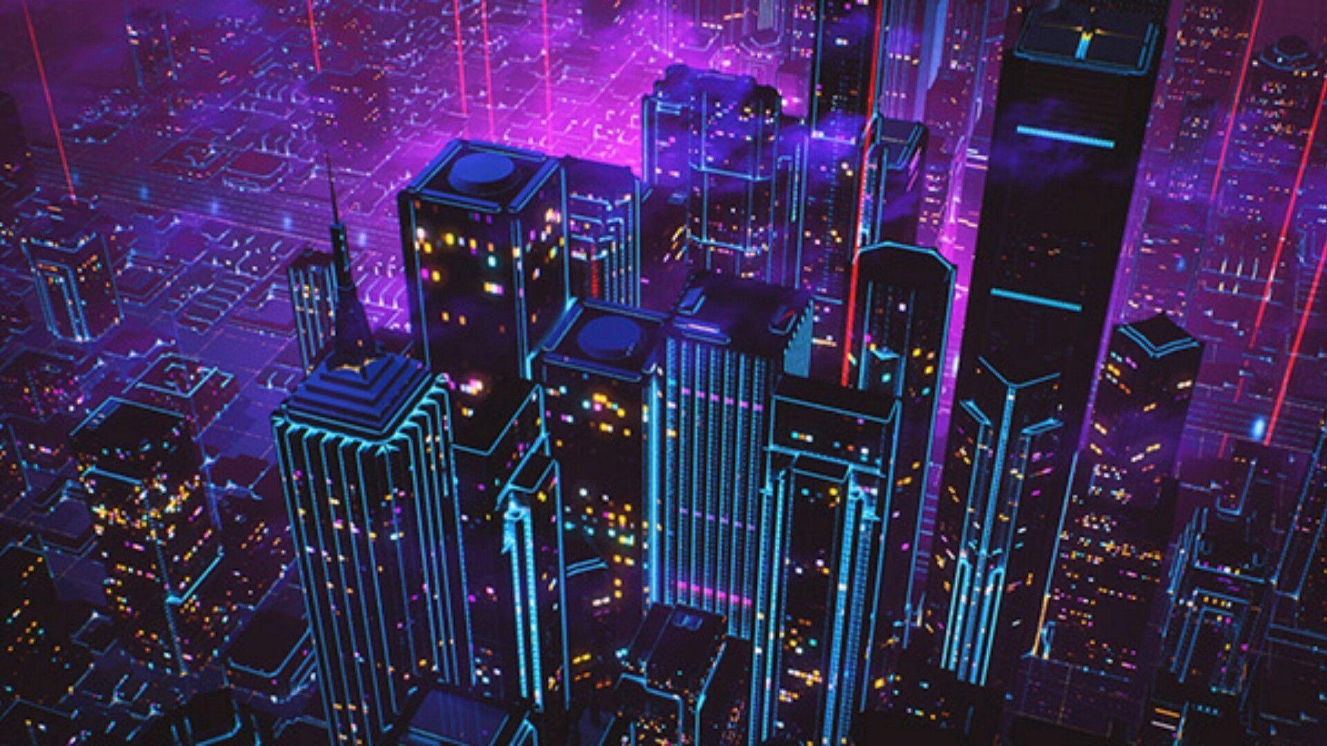 1920x1080 Neon 80s hình nền