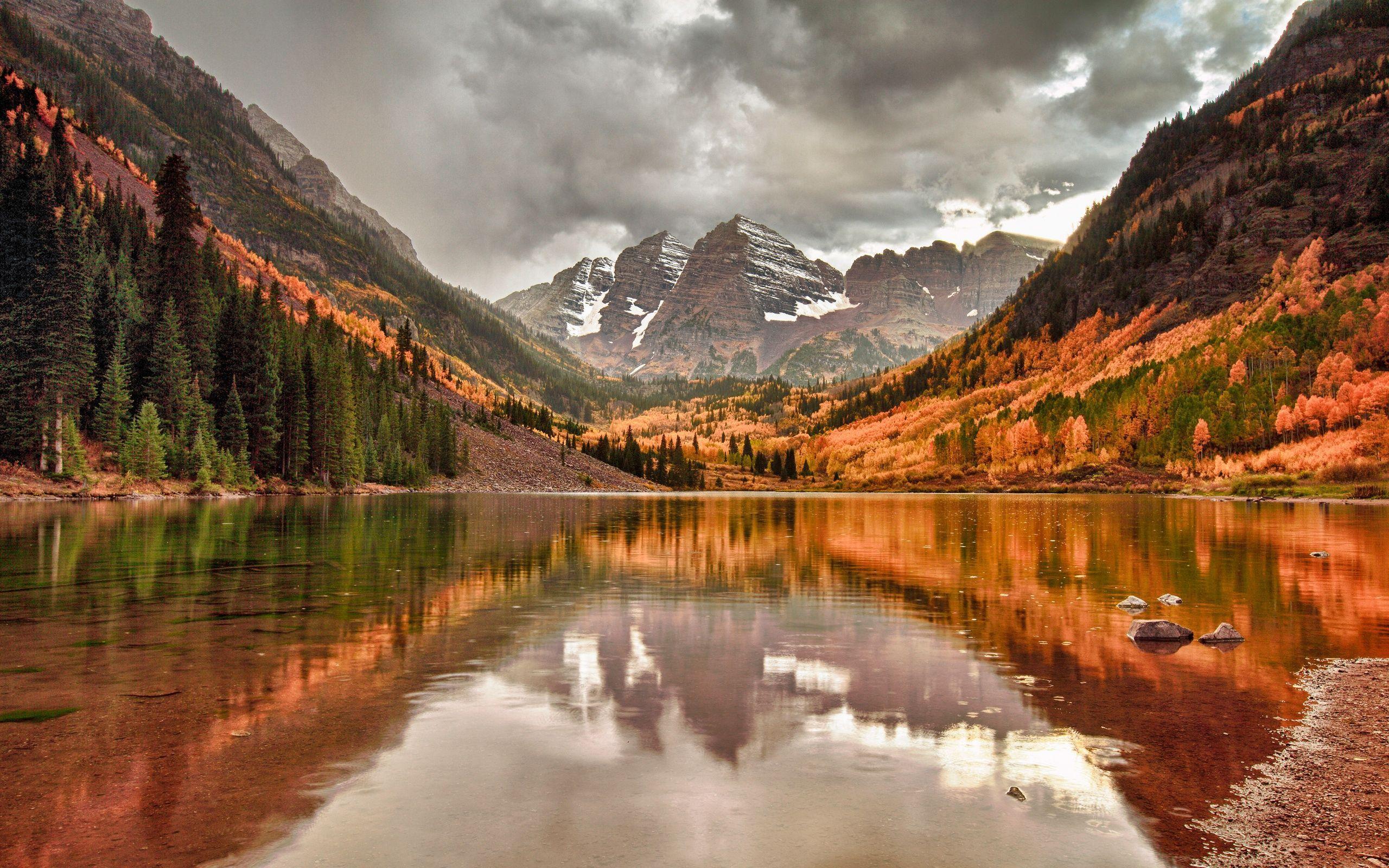 Fall Mountain Lake Wallpapers Top Free Fall Mountain Lake Backgrounds Wallpaperaccess