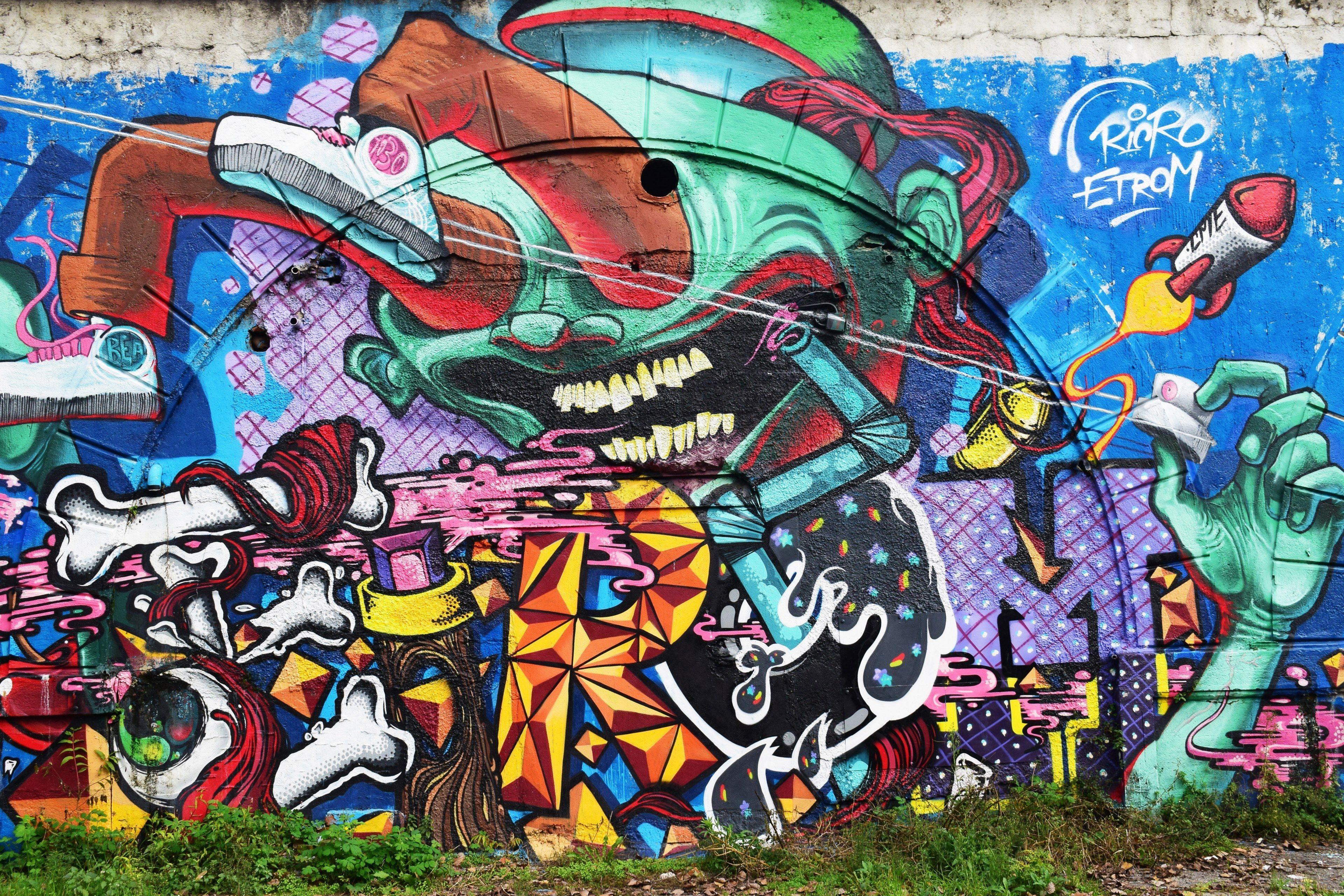 Cartoon graffiti wallpapers top free cartoon graffiti - Crazy cartoon wallpaper ...