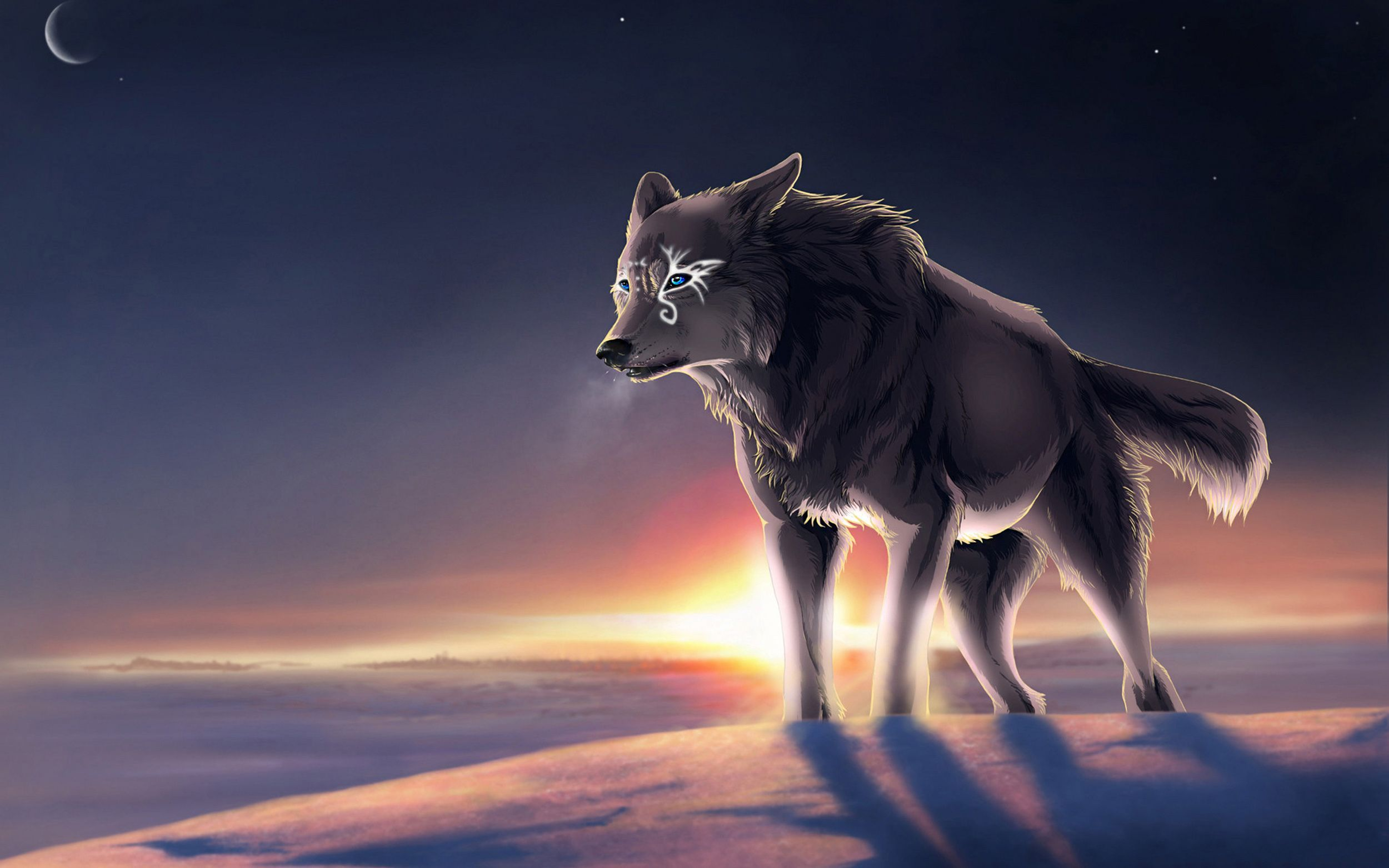 Cute Anime Wolf Wallpapers Top Free Cute Anime Wolf Backgrounds Wallpaperaccess