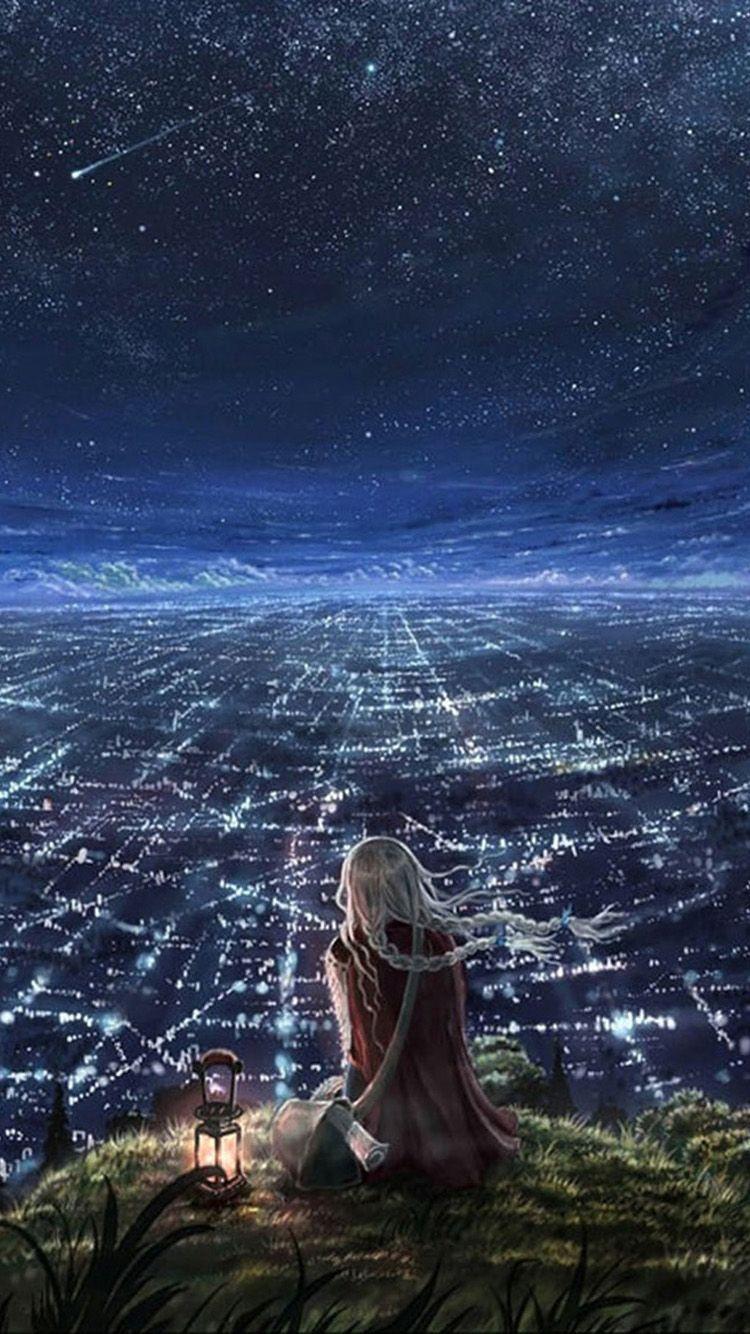 Iphone Cute Night Sky Anime Wallpapers