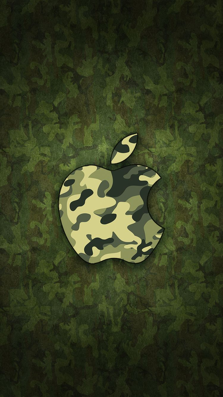 Camouflage Apple Logo Iphone Wallpapers Top Free