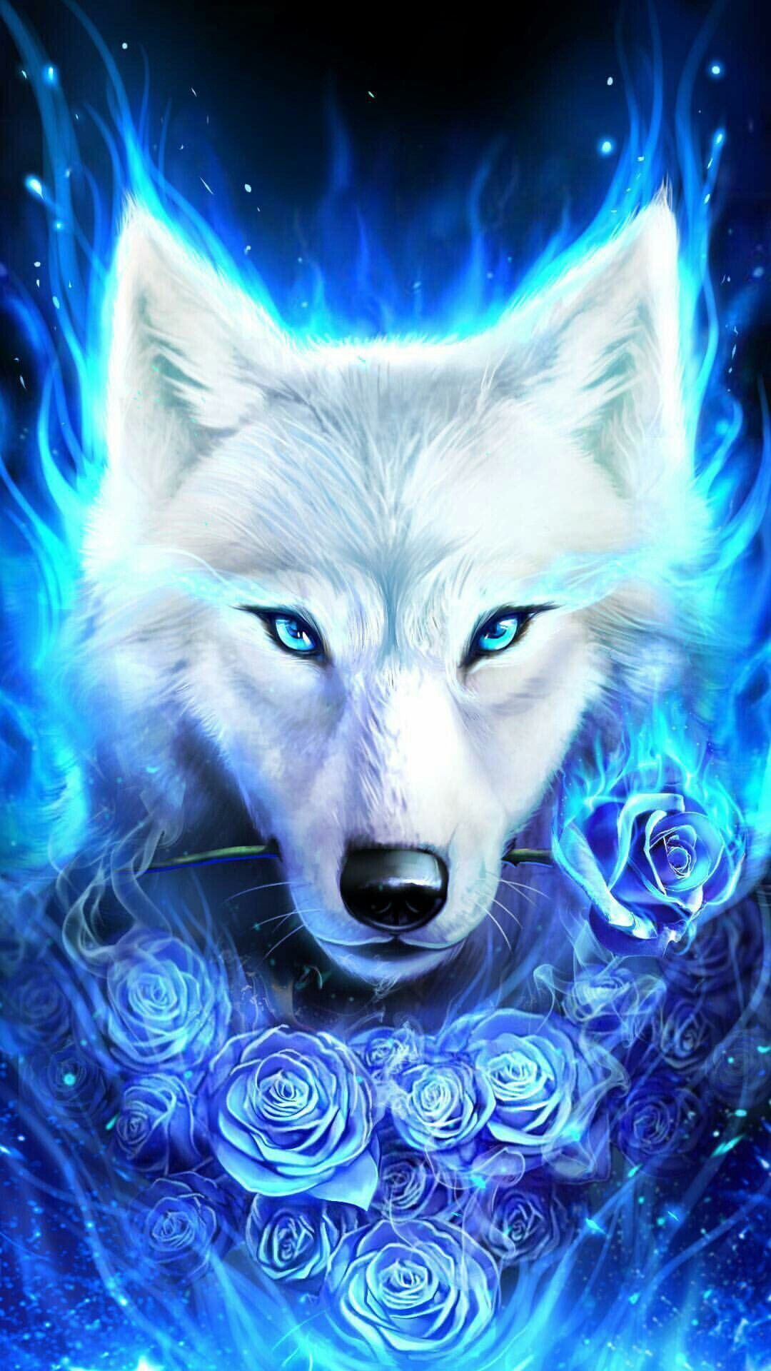 Cute galaxy wolf wallpapers top free cute galaxy wolf - Anime wolf wallpaper ...