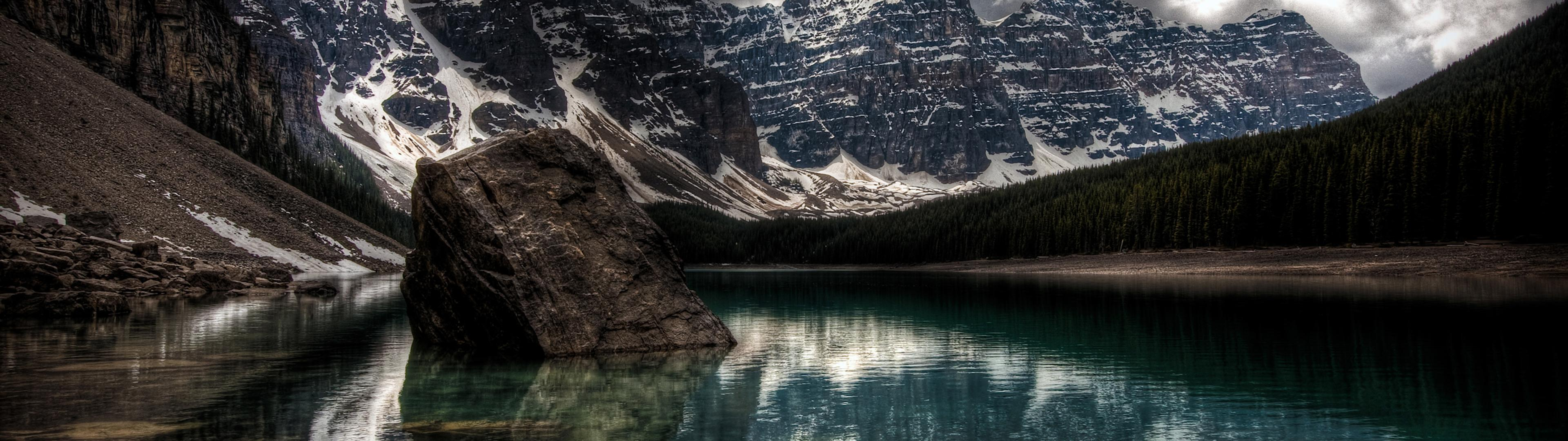 Small Lake Dual Screen Wallpapers Top Free Small Lake Dual Screen Backgrounds Wallpaperaccess