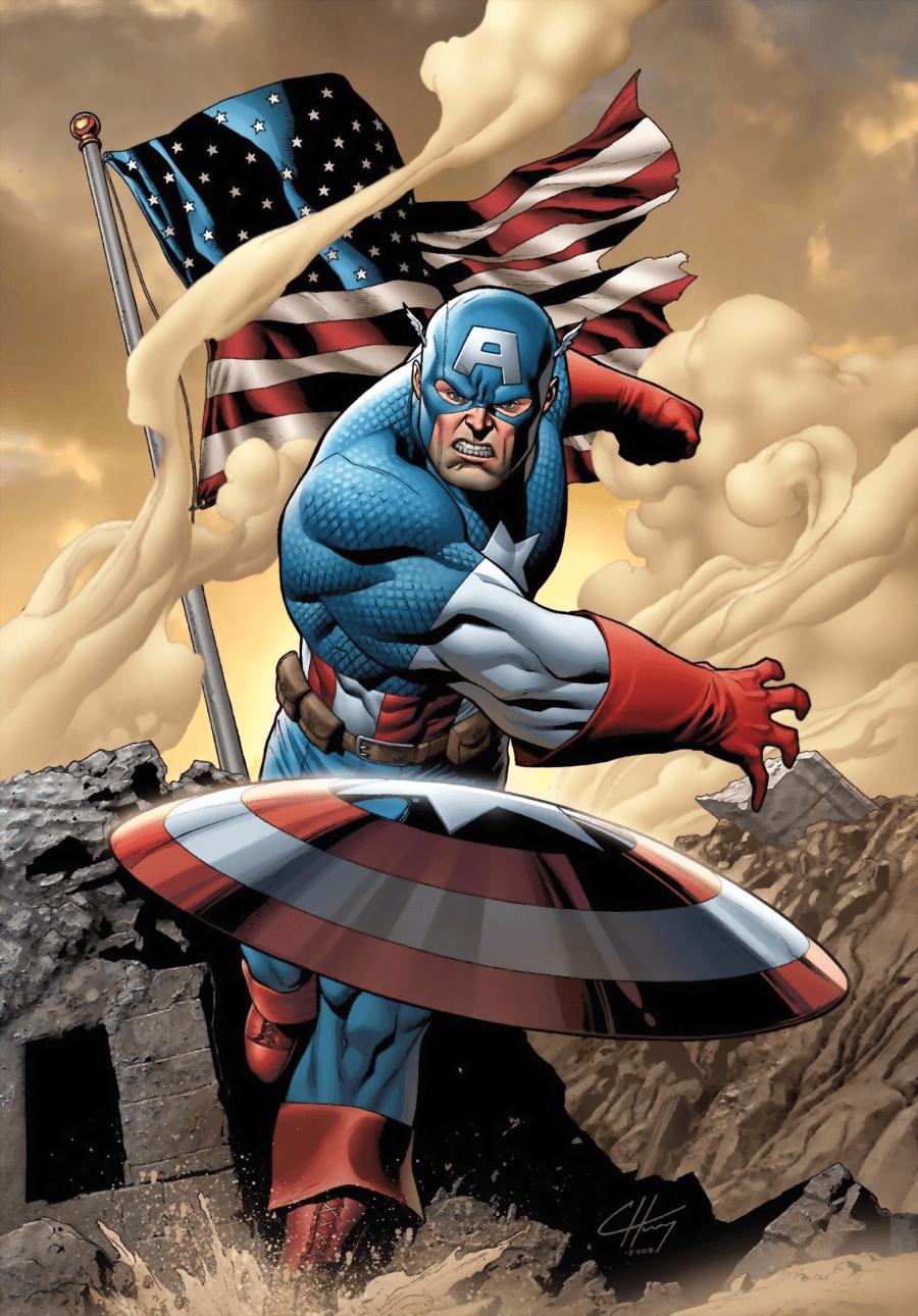 America Marvel Cartoon Captain Shield Wallpapers - Top Free