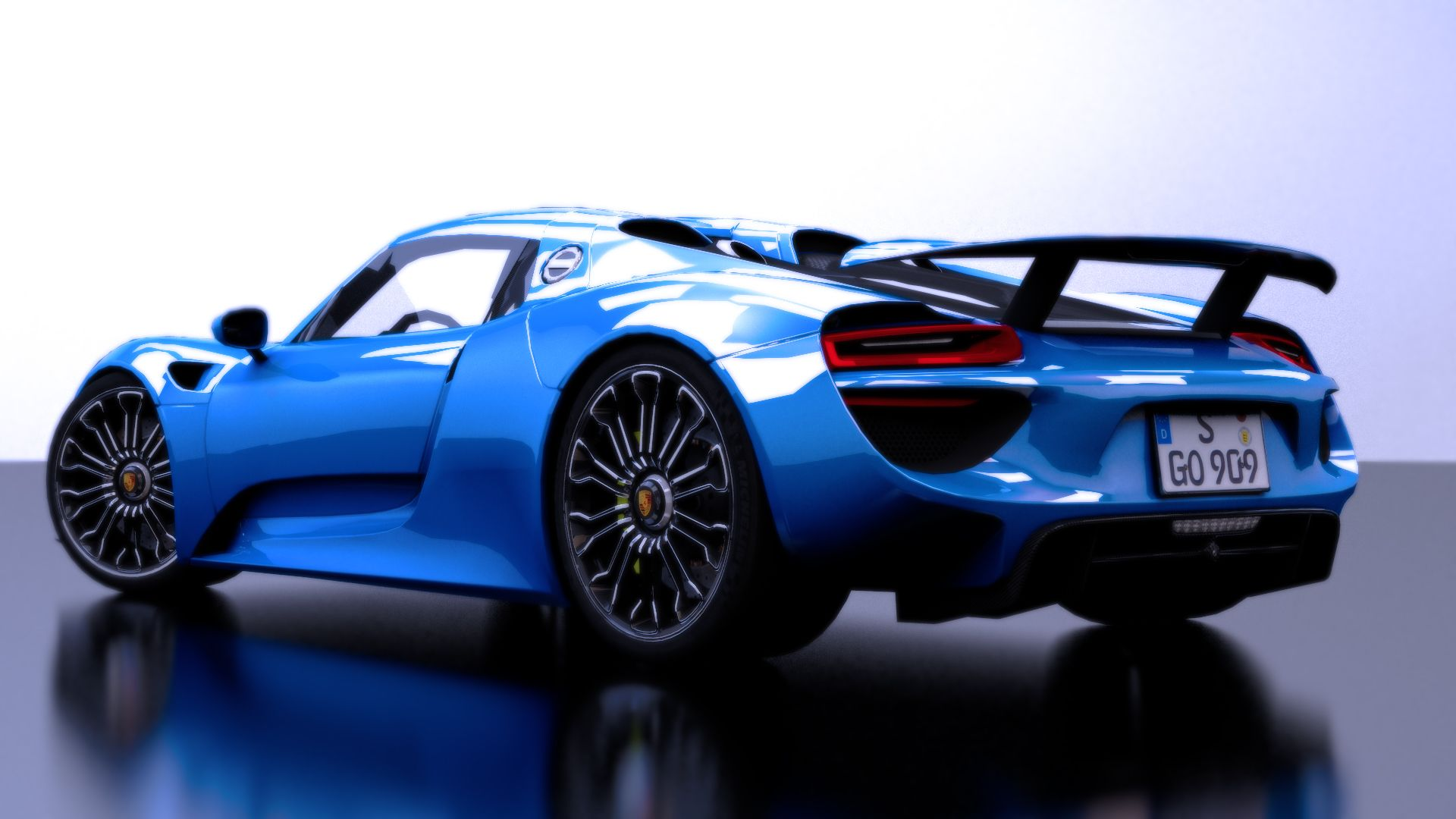 Blue Porsche 918 Spyder Wallpapers Top Free Blue Porsche