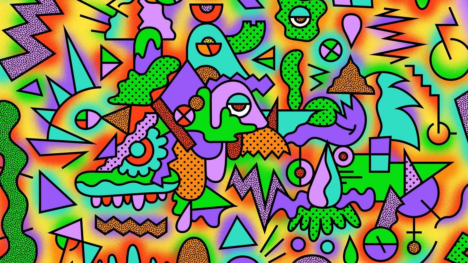 Acid phone wallpapers top free acid phone backgrounds colorful acid drawing trippy art tumblr jpg 1920x1080