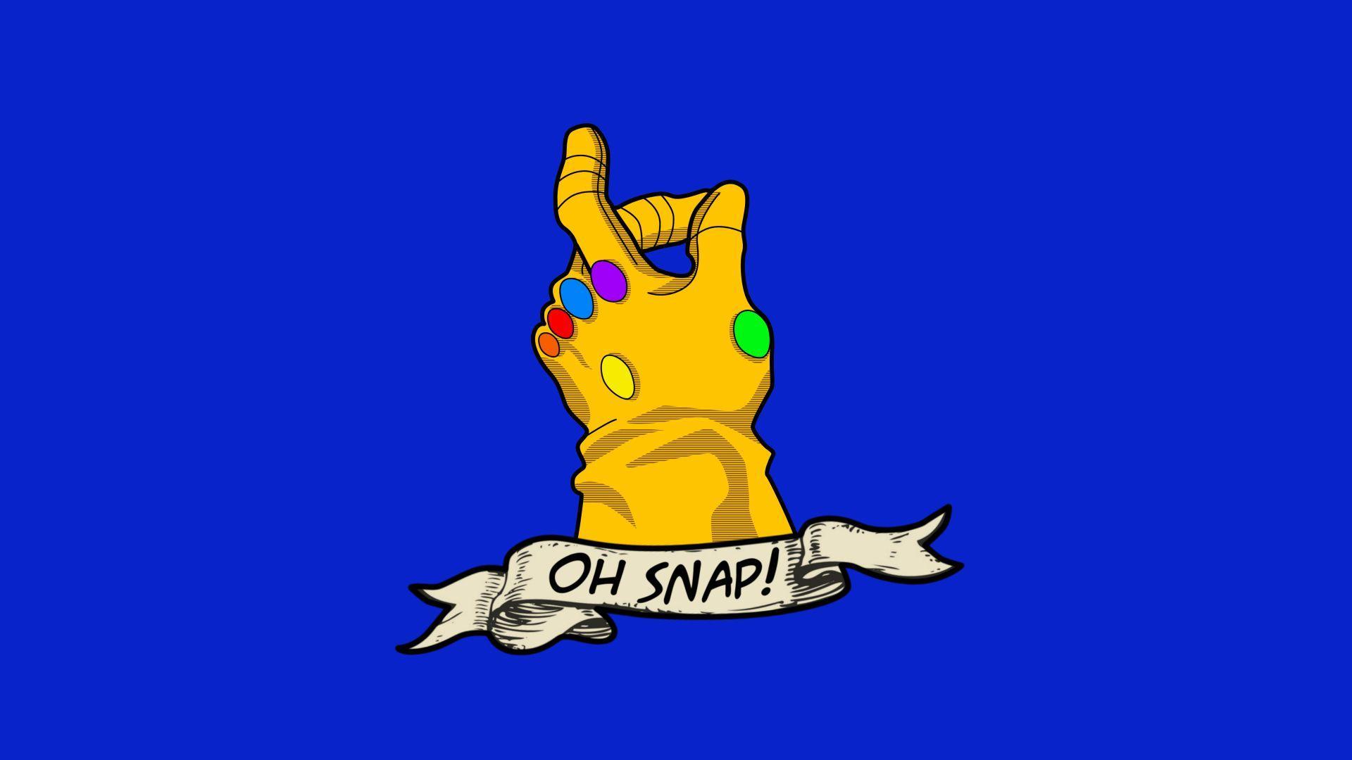 6b77a4948 1920x1080 Fan Art: OC] Thanos OH SNAP! Infinity Gauntlet Tattoo T-shirt