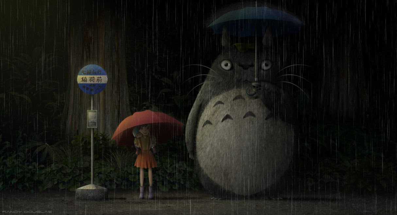 Totoro Bus Stop Wallpapers Top Free Totoro Bus Stop Backgrounds