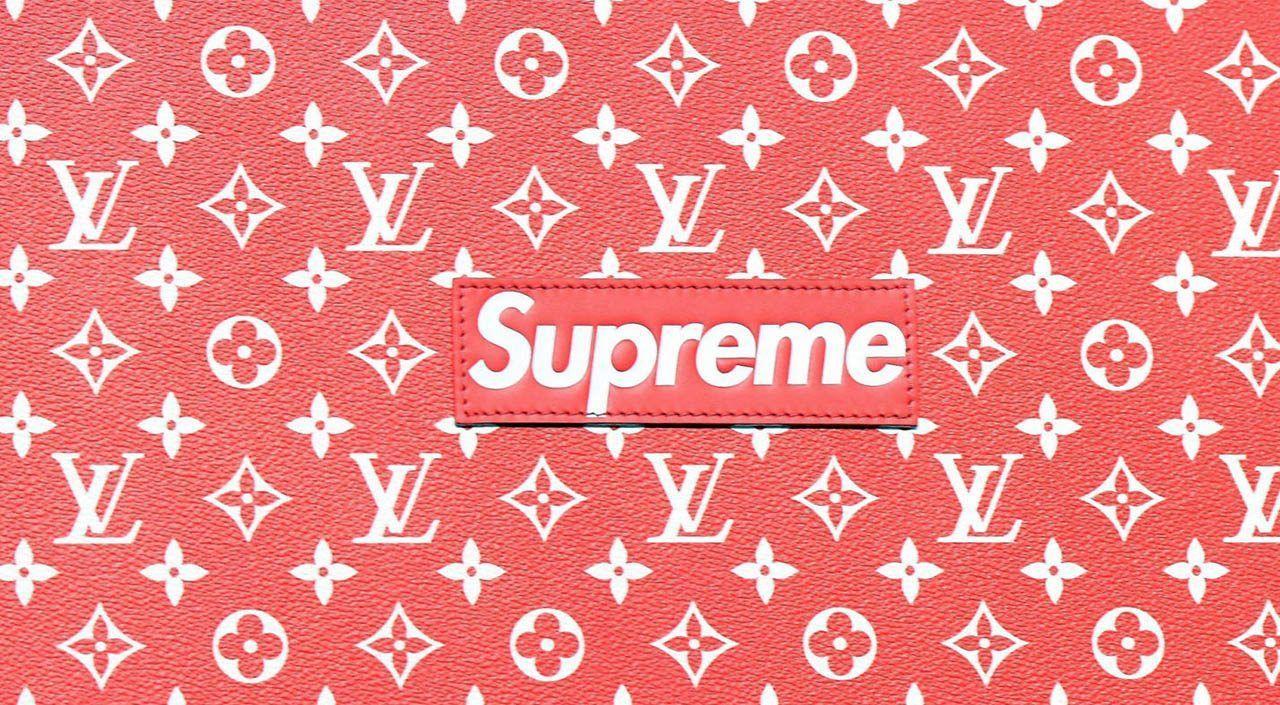 LV Supreme Logo Wallpapers