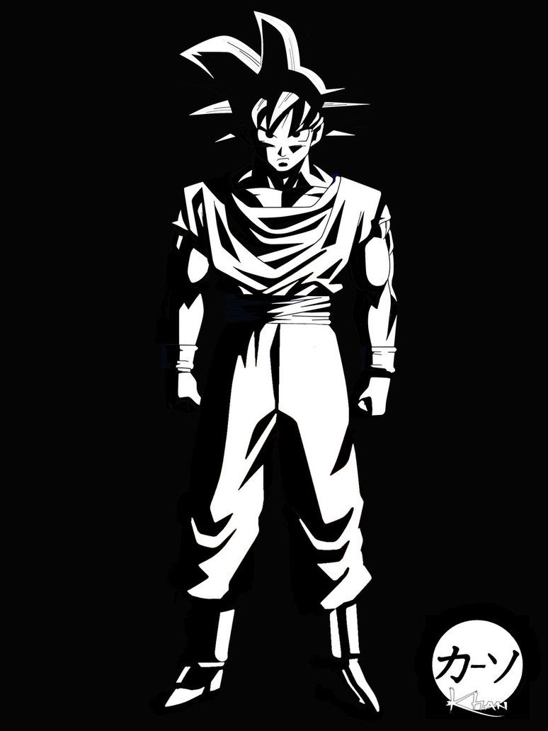 Goku Black And White Wwwtopsimagescom