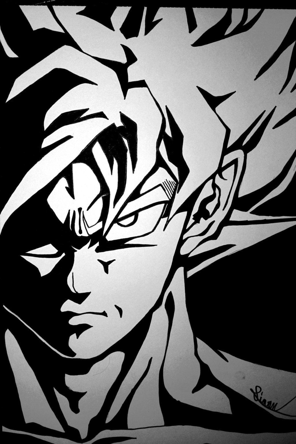 1920x1080 minimalistic son goku white background dragonball wallpapers