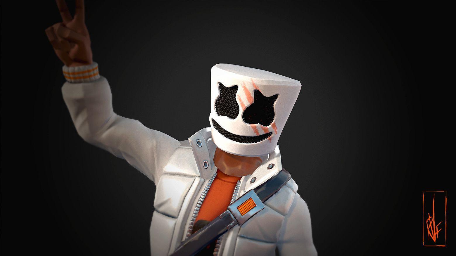1560x876 Marshmello Fortnite skin Epic Games Hình nền và Kho miễn phí