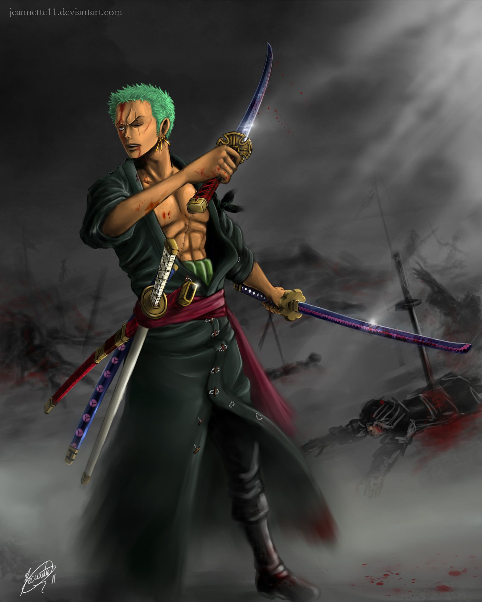 One Piece Zoro Wallpaper: Haki One Piece Zoro Wallpapers