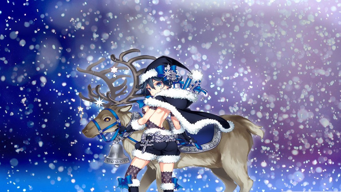 Anime Girls Christmas Wallpaper HD 4k