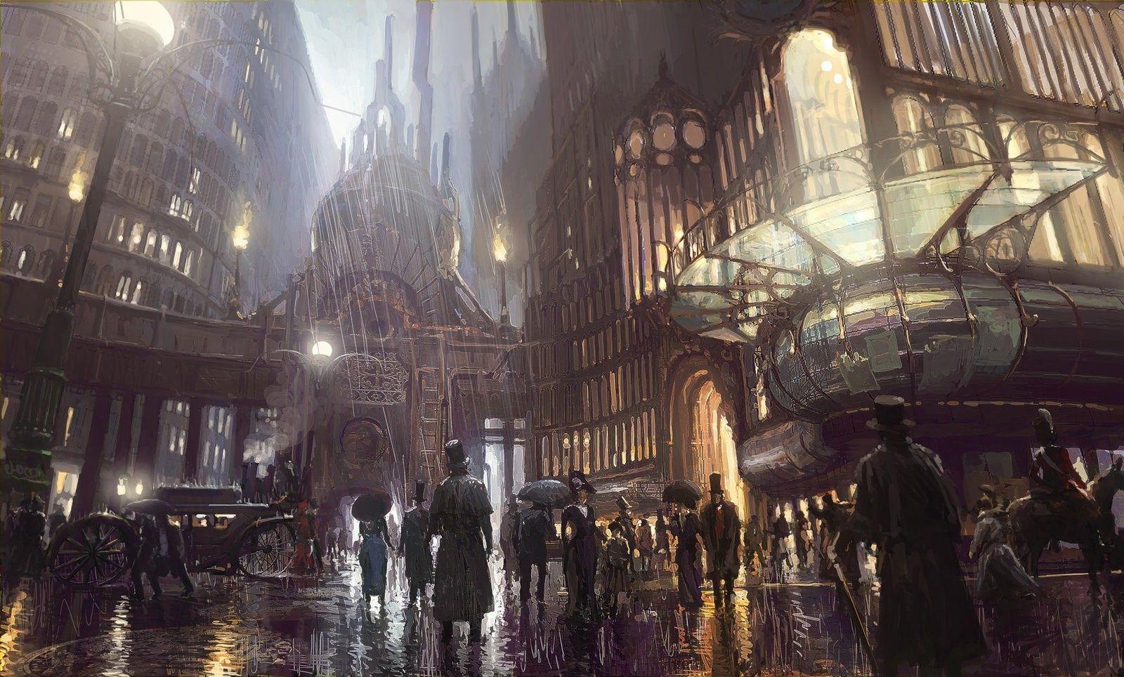 Fantasy Town Hall Art