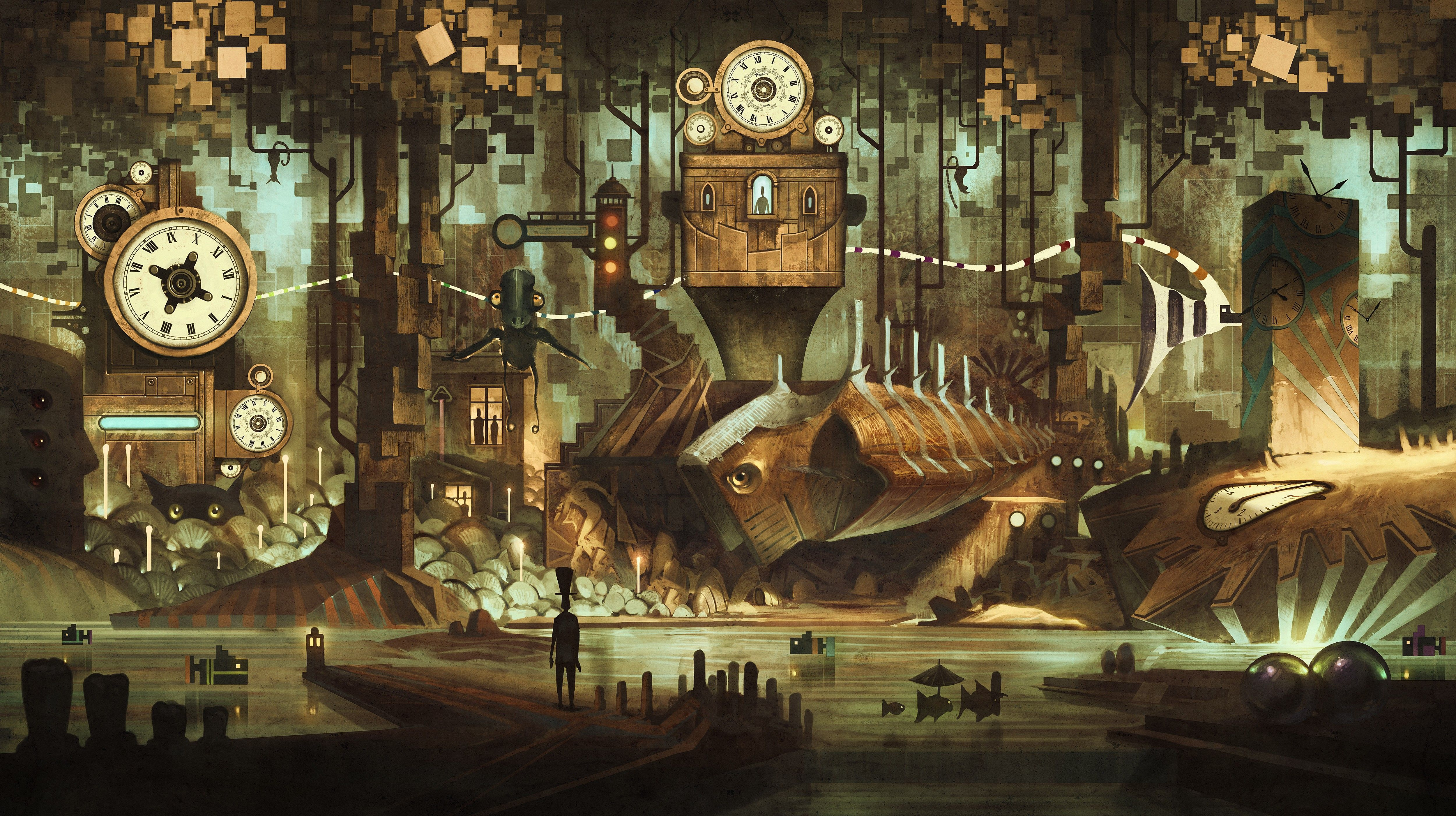 Steampunk City Wallpapers Top Free Steampunk City Backgrounds