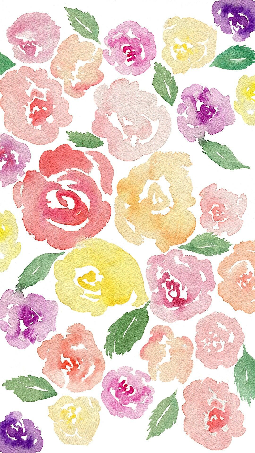 Watercolor Flower Iphone Wallpapers Top Free Watercolor Flower
