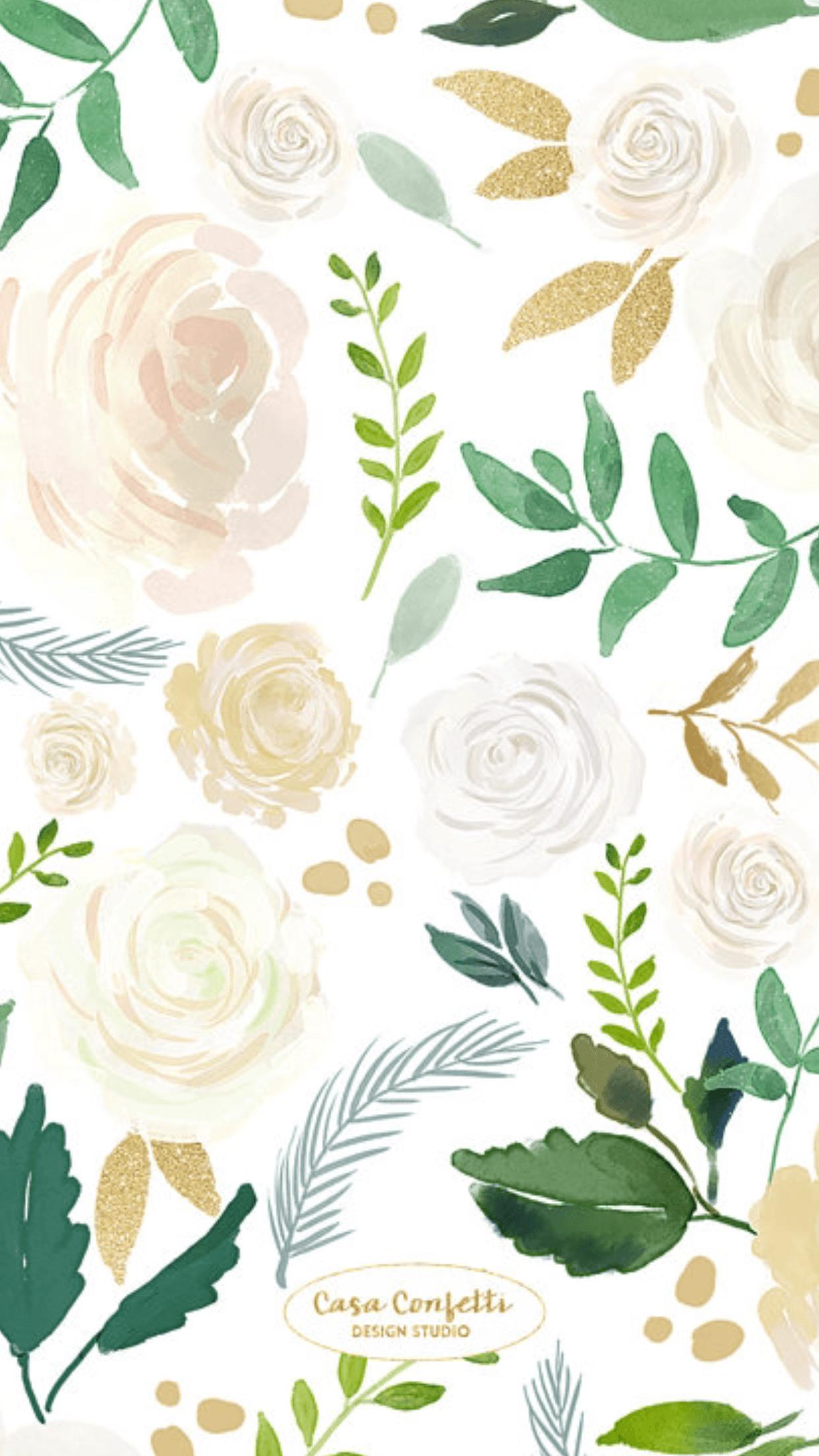 Watercolor Flower Iphone Wallpapers Top Free Watercolor