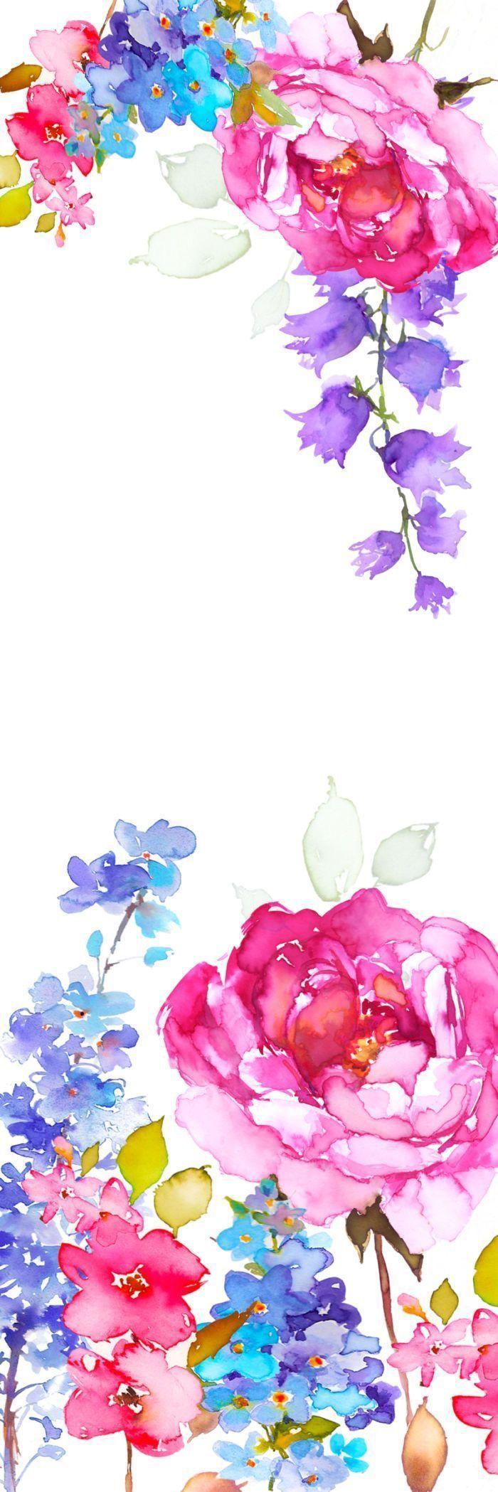 Watercolor Flower Iphone Wallpapers Top Free Watercolor Flower Iphone Backgrounds Wallpaperaccess