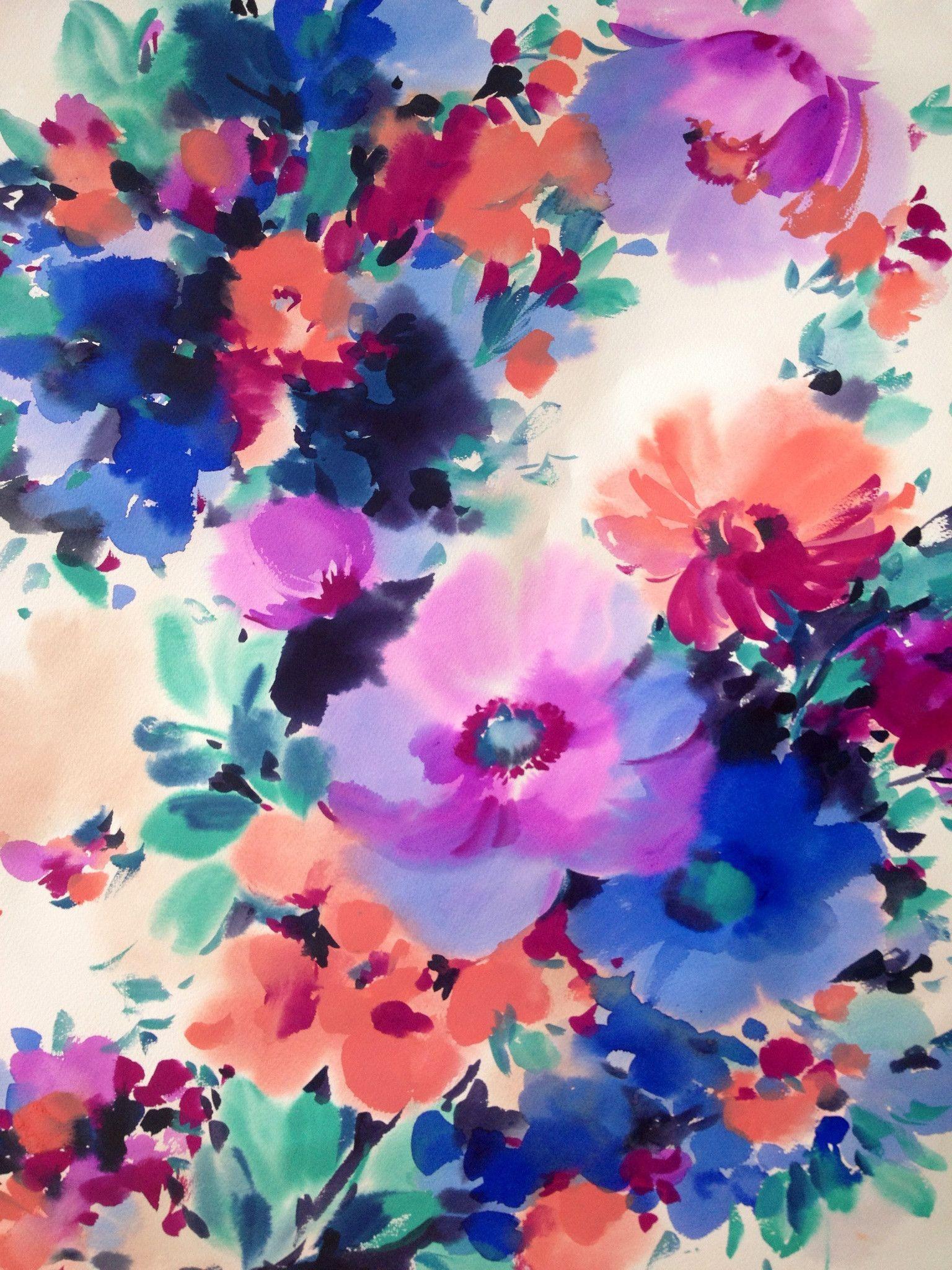 Watercolor Flower Wallpapers Top Free Watercolor Flower